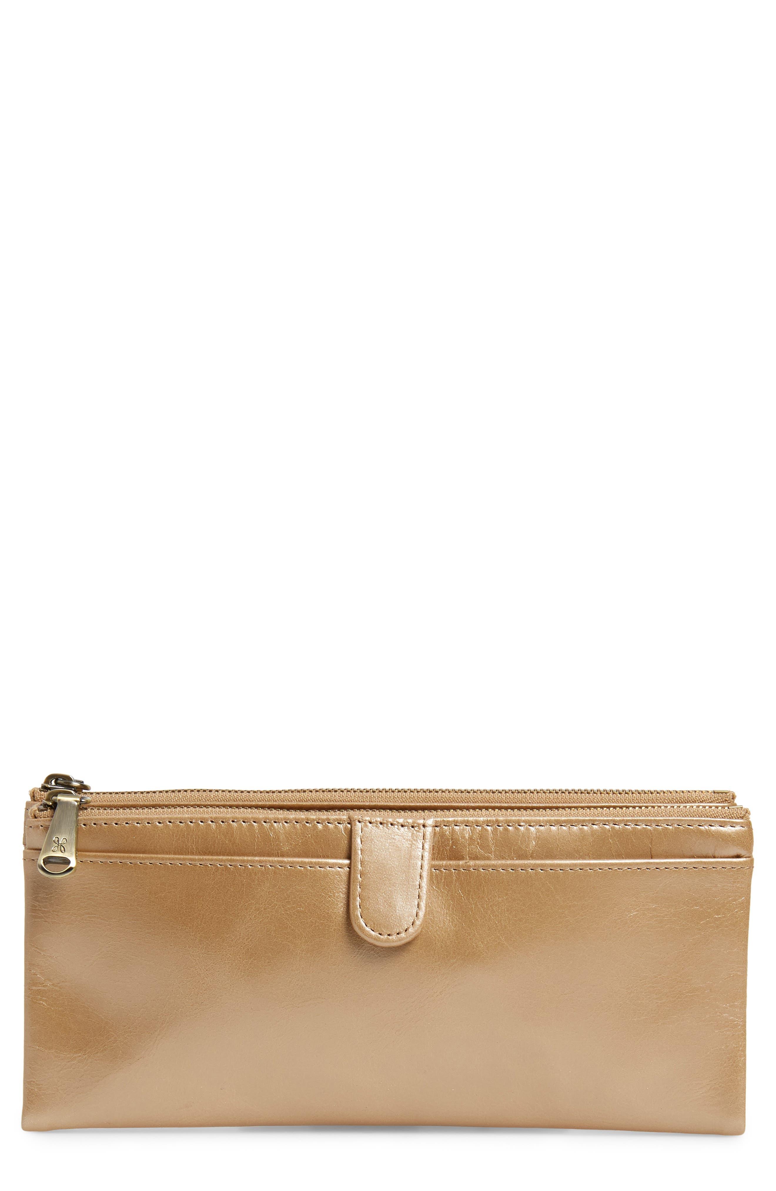 Alternate Image 1 Selected - Hobo 'Taylor' Glazed Leather Wallet