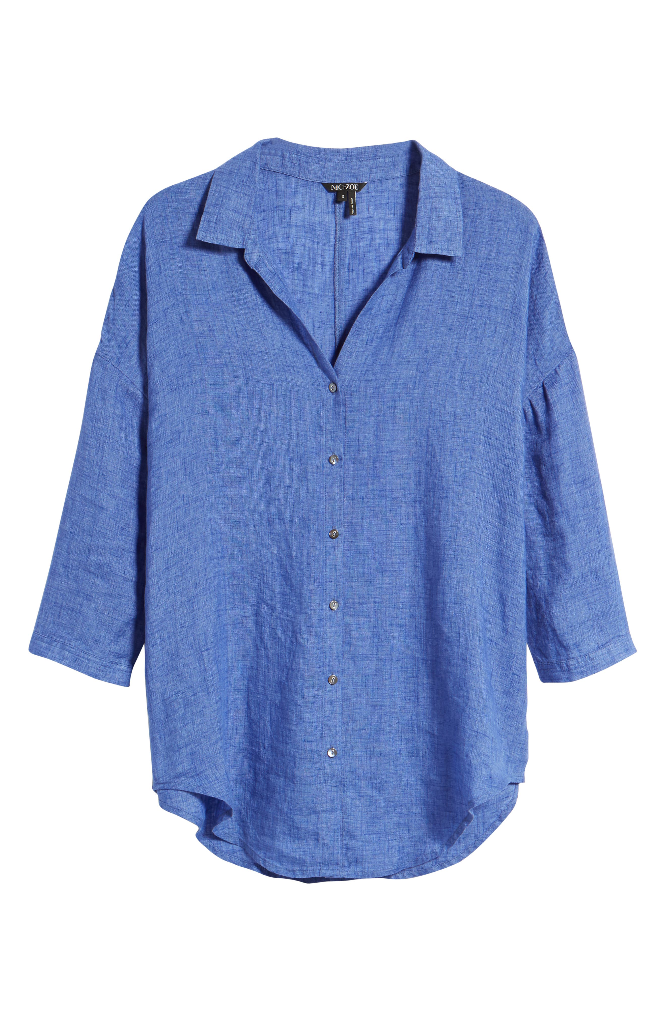 Joy Ride Linen Tunic Top,                             Alternate thumbnail 6, color,                             Ultramarine