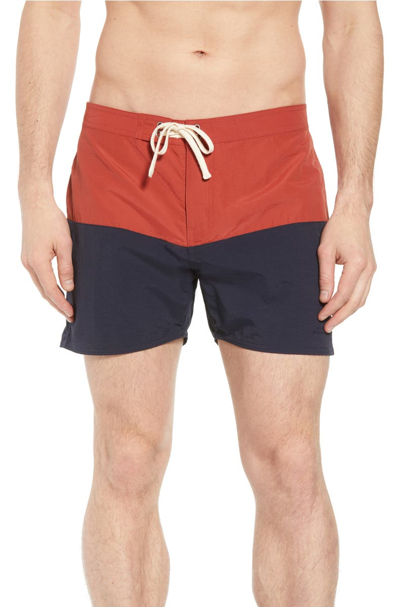 4cab0dfe4c Saturdays Surf Nyc Ennis Short-Length Colour-Block Swim Shorts - Navy In  M8542Bric