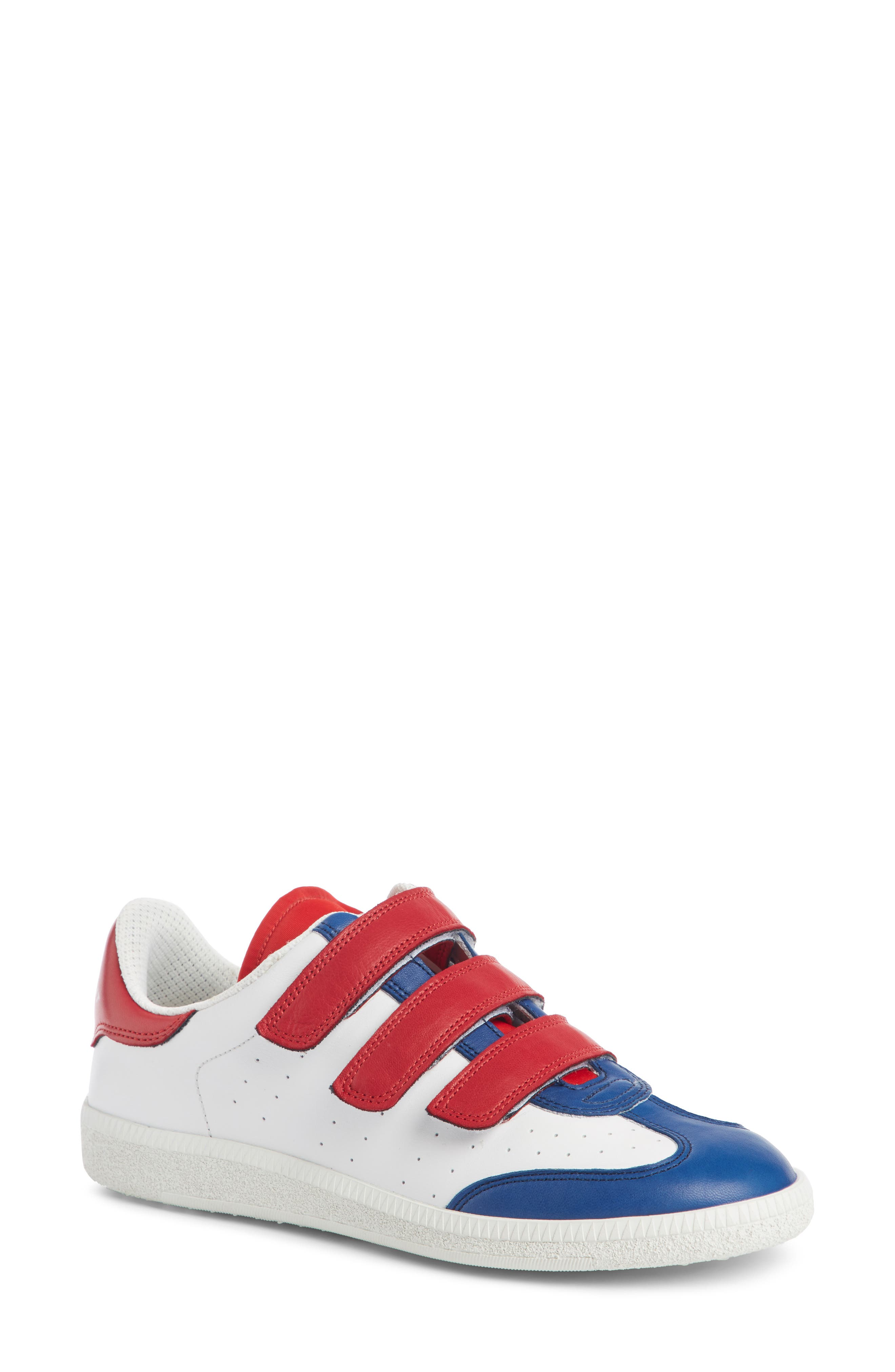 Beth Sneaker,                             Main thumbnail 1, color,                             White/ Blue/ Red