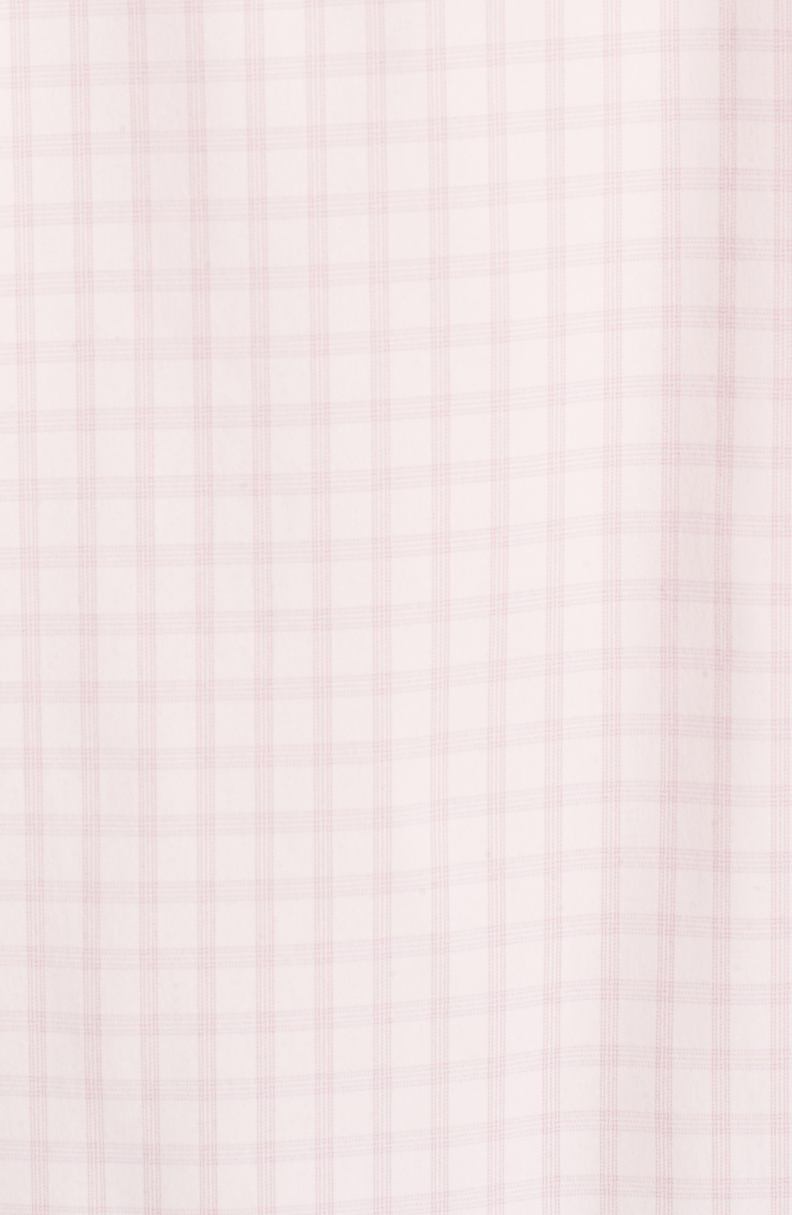 Slim Fit Check Performance Sport Shirt,                             Alternate thumbnail 5, color,                             Gulf Point Plaid - Skiivy Pink