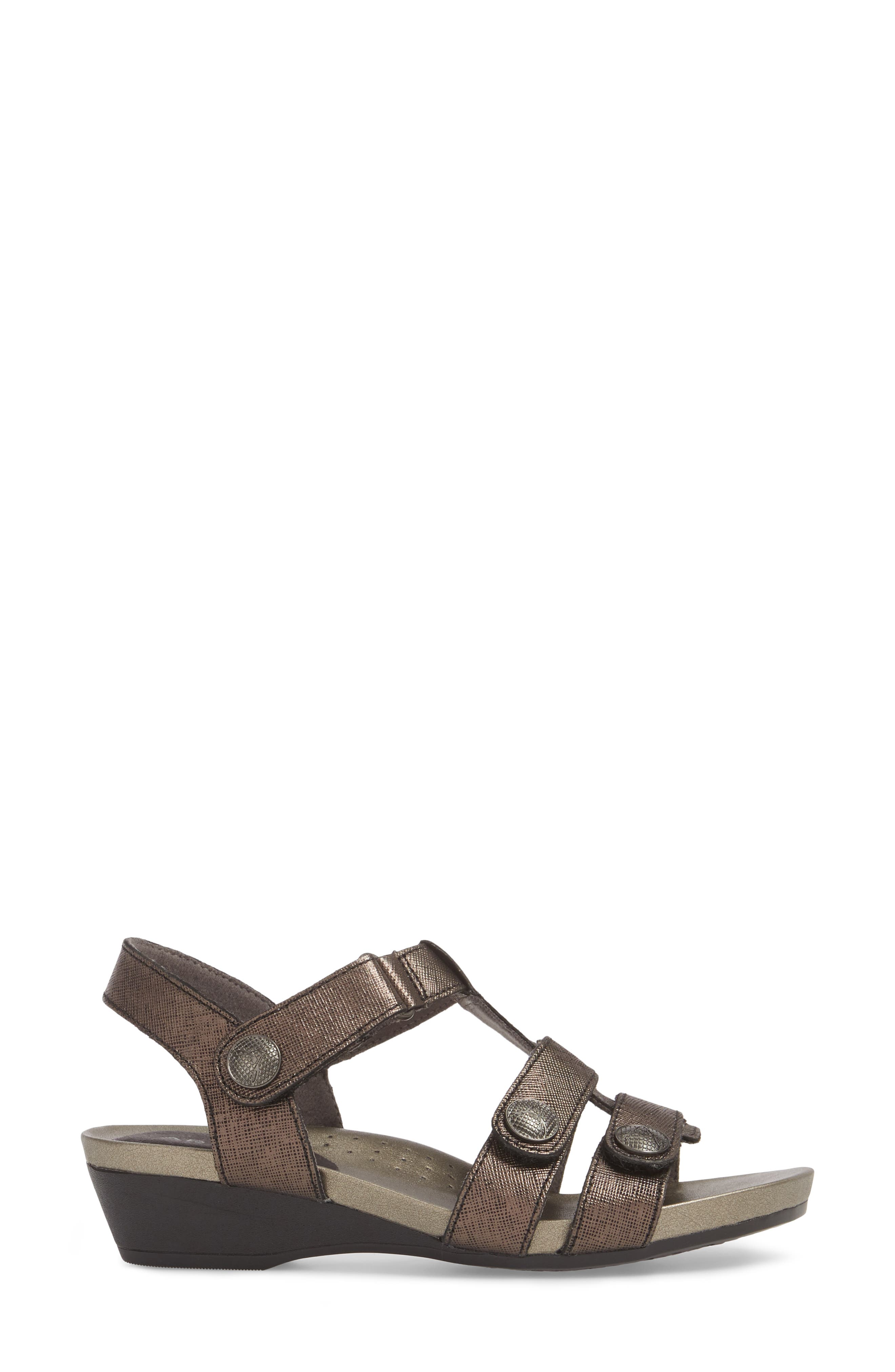 Standon Sandal,                             Alternate thumbnail 3, color,                             Black Leather