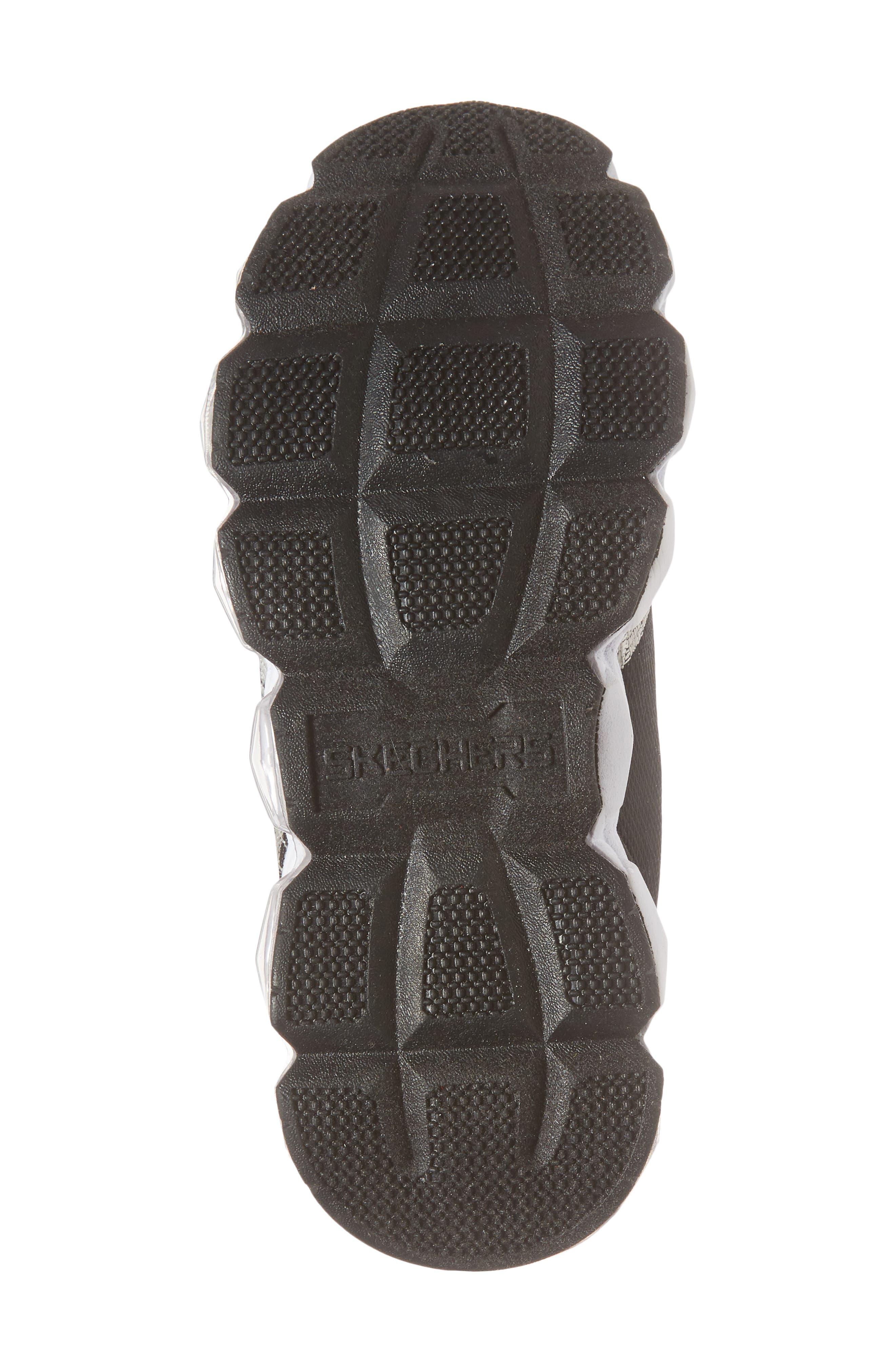 Energy Lights Sneaker,                             Alternate thumbnail 6, color,                             Black/ Silver