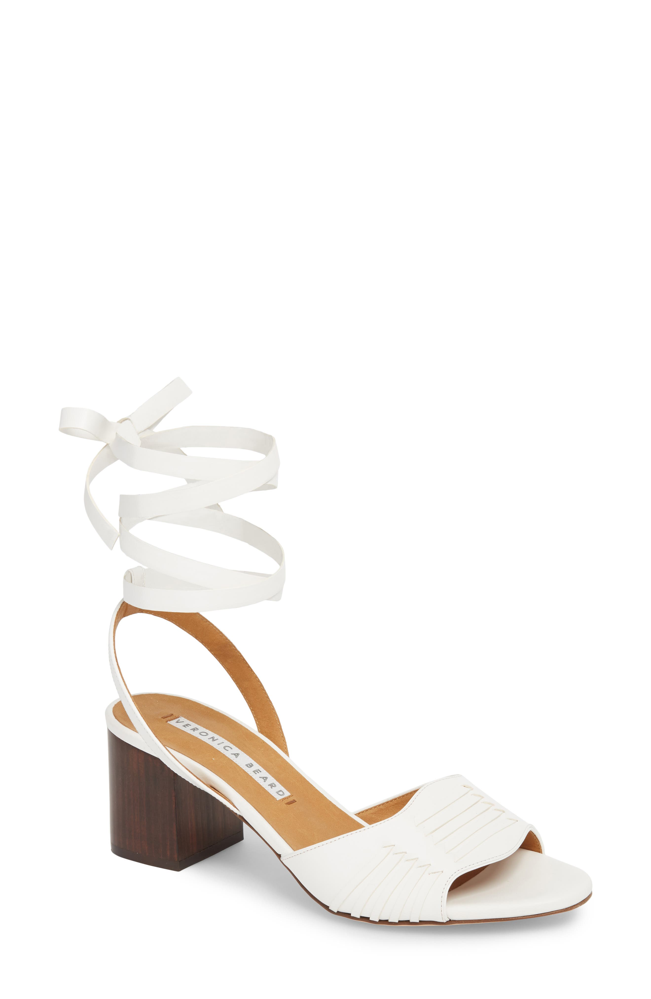 Brody Ankle Wrap Sandal,                         Main,                         color, White