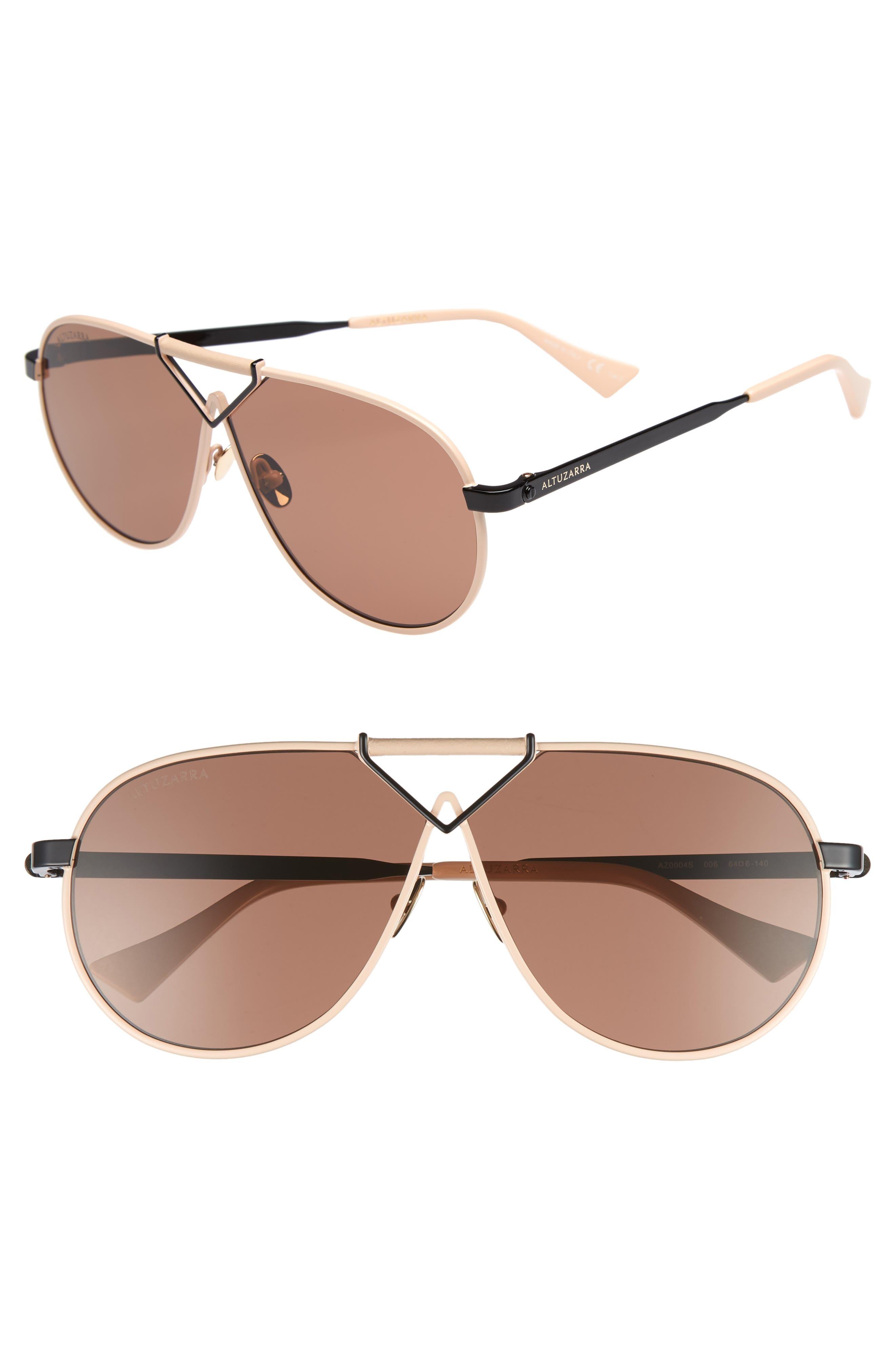 Altuzarra 64mm Aviator Sunglasses