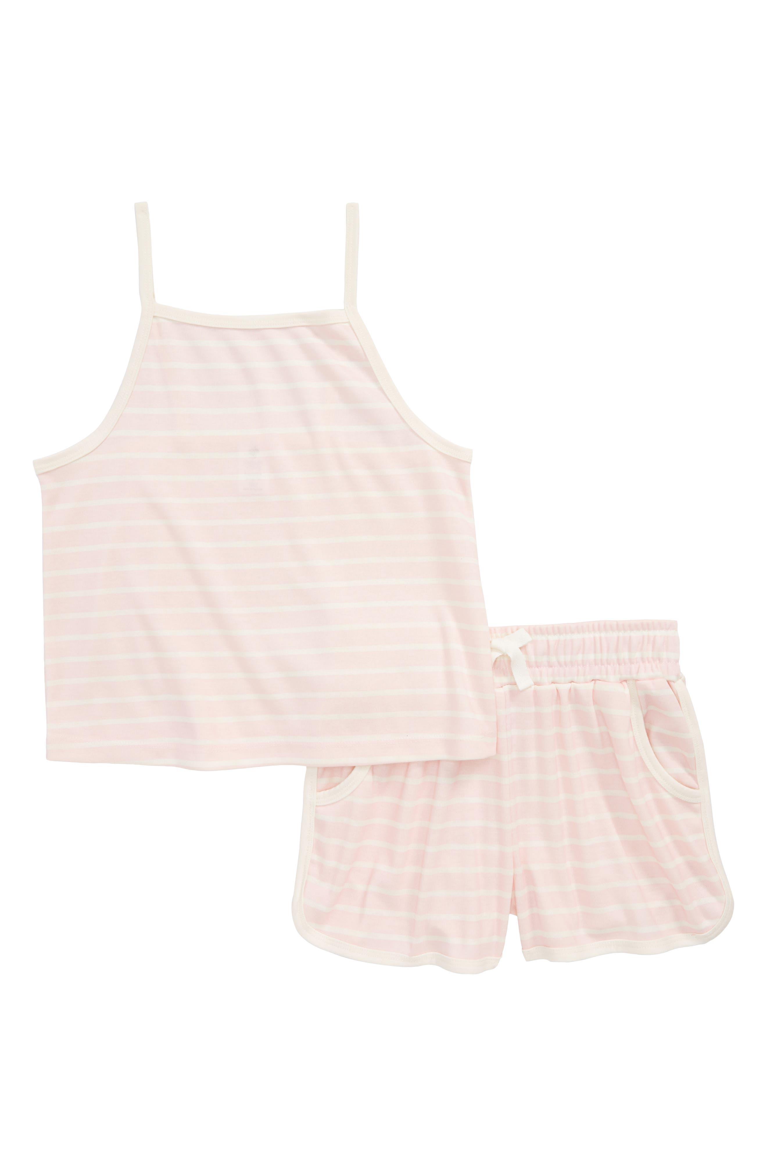 Tucker + Tate Stripe Two-Piece Pajamas Set (Big Girls)