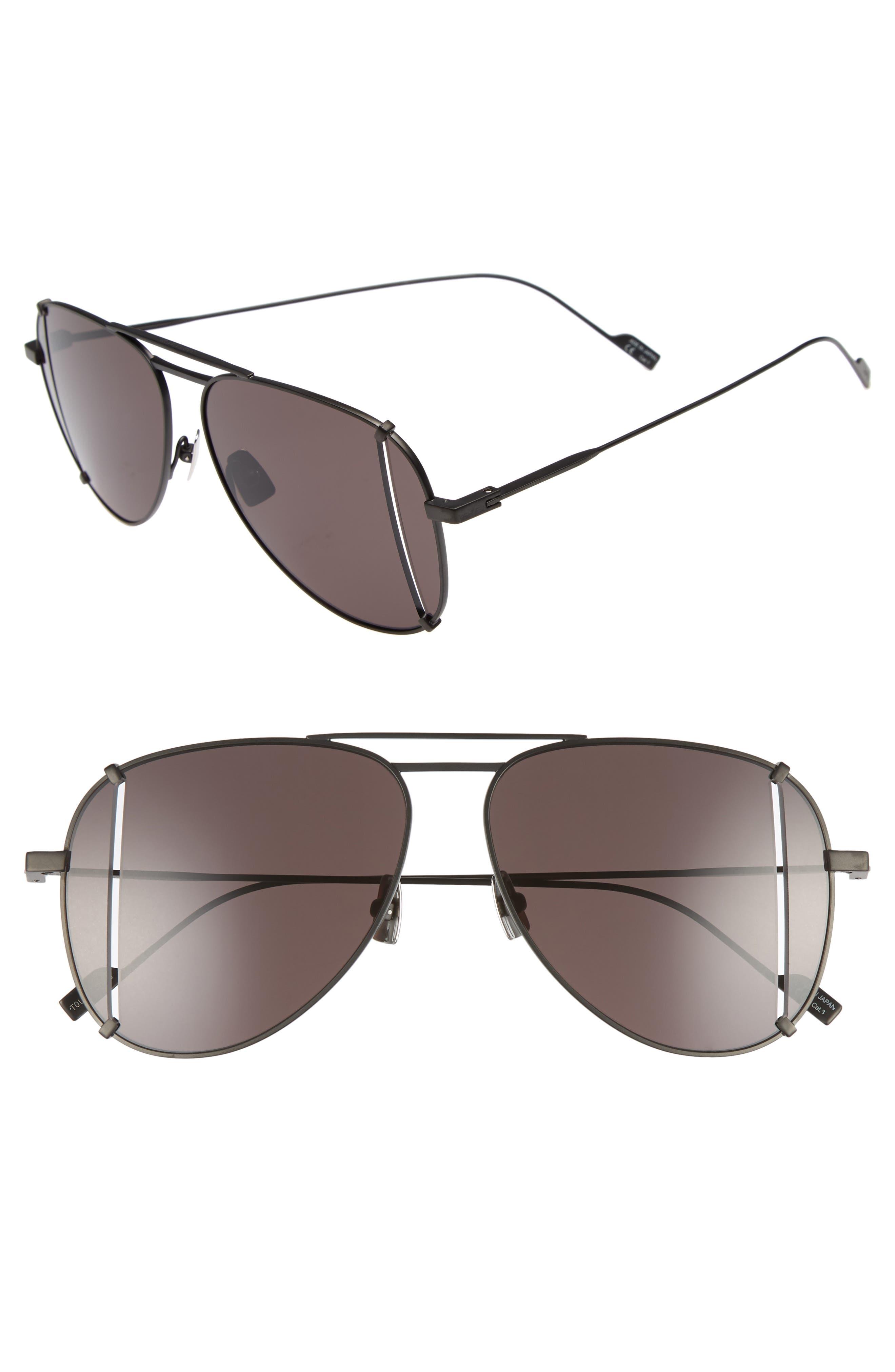 Saint Laurent 59mm T-Cut Aviator Sunglasses