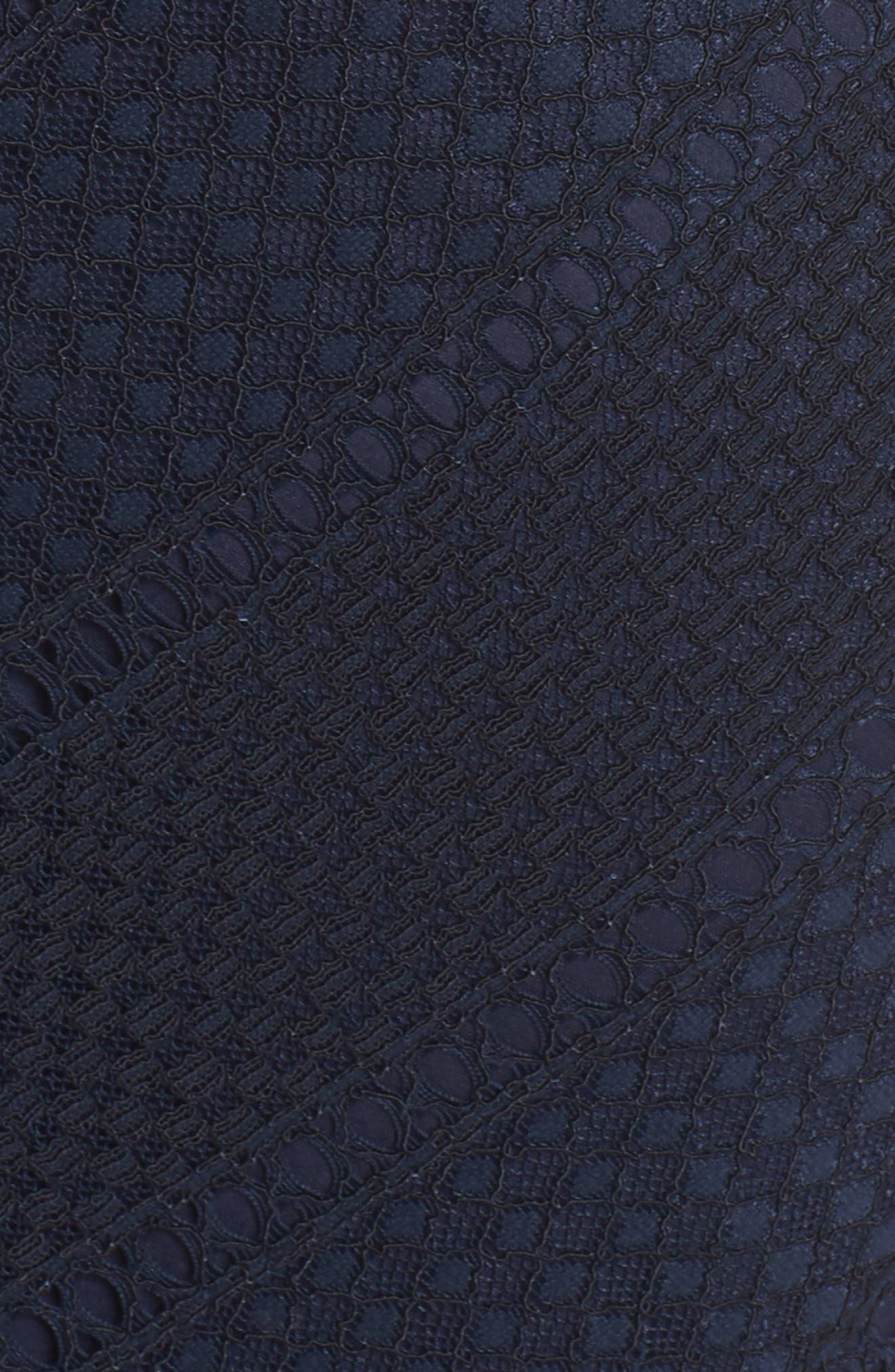 Vintage Stripe Lace Sheath Dress,                             Alternate thumbnail 6, color,                             Navy/ Black