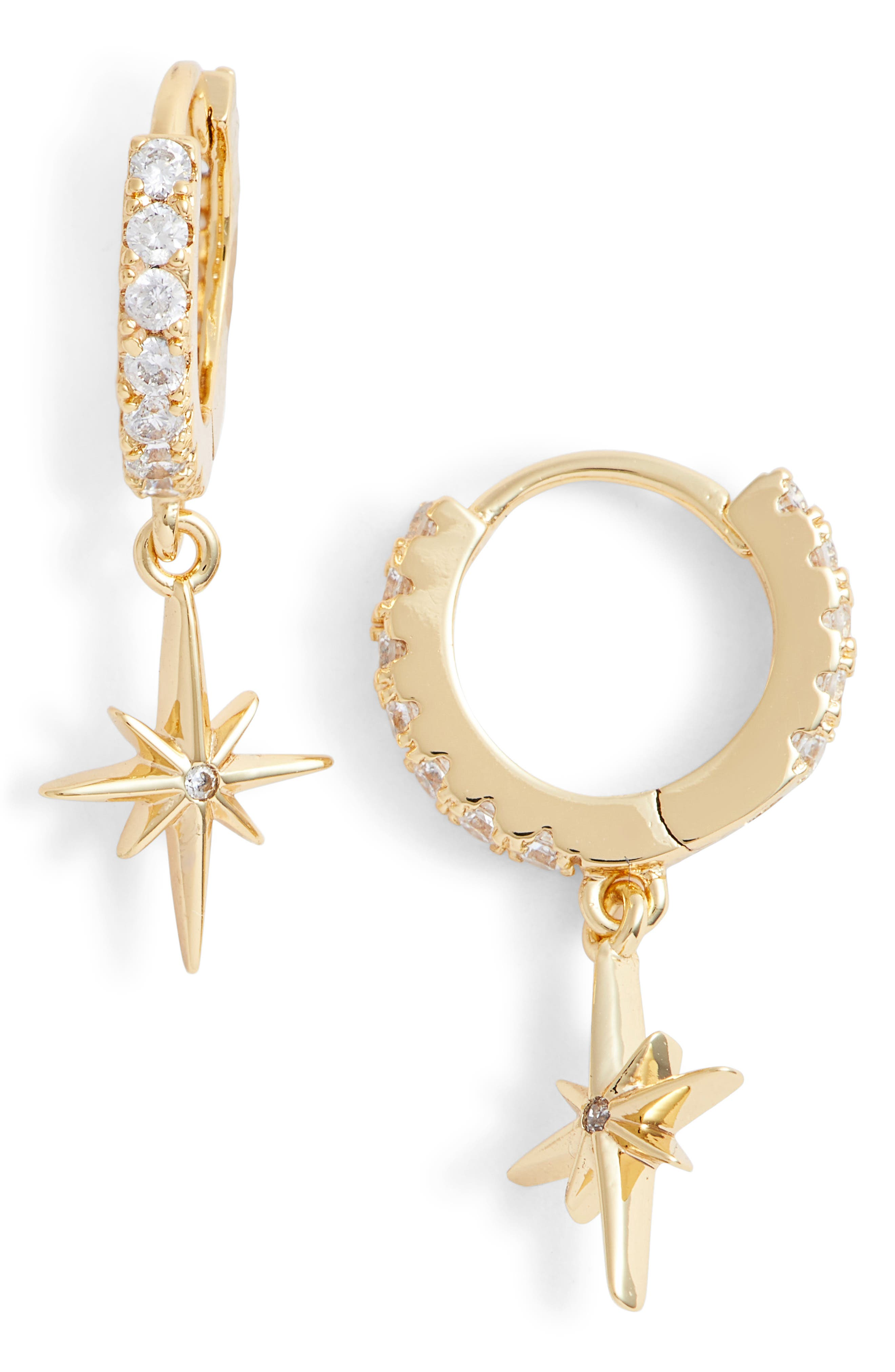 x We Wore What Star Drop Earrings,                         Main,                         color, Gold