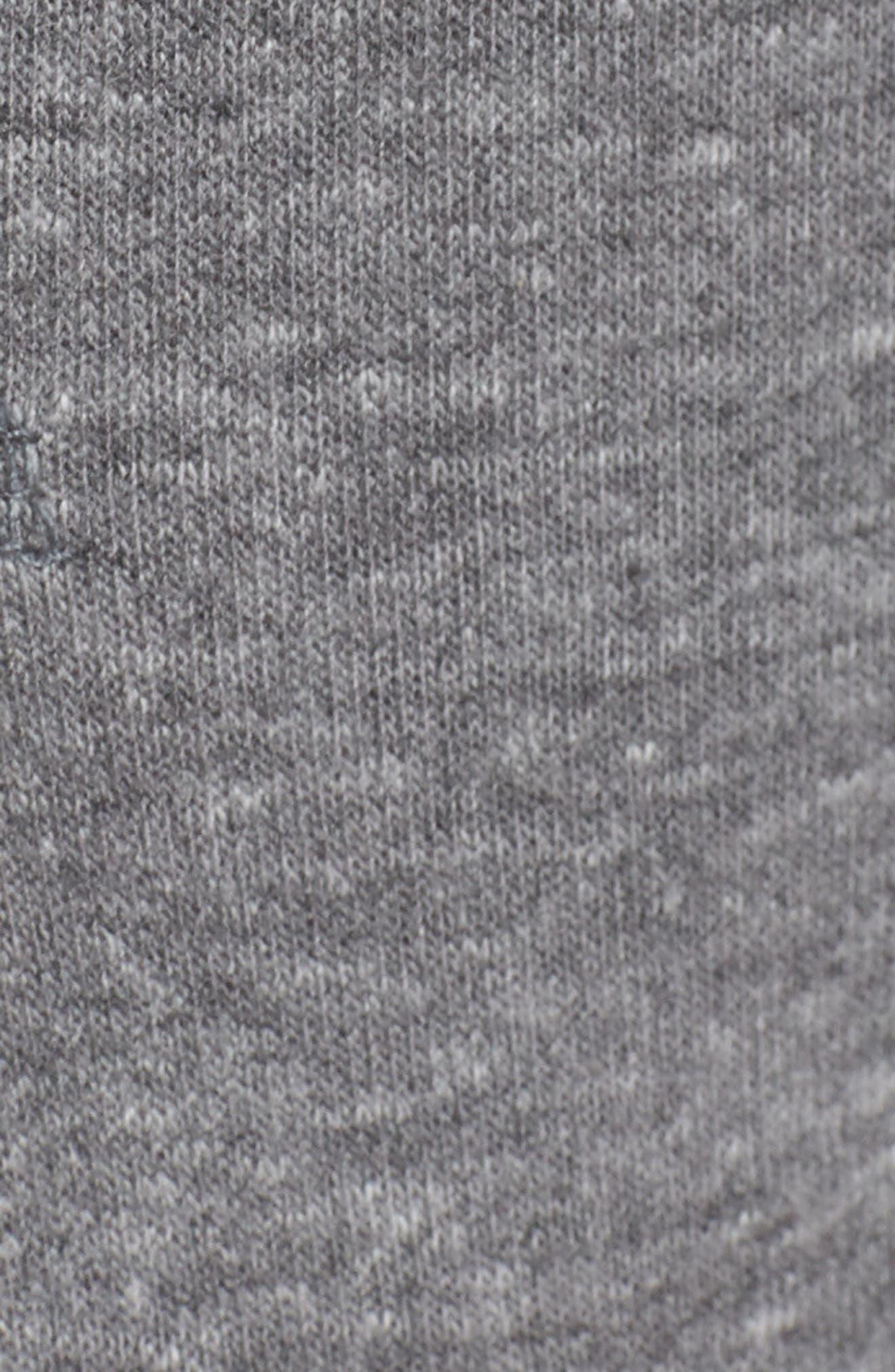 Moto Sweatpants,                             Alternate thumbnail 6, color,                             Heather Grey