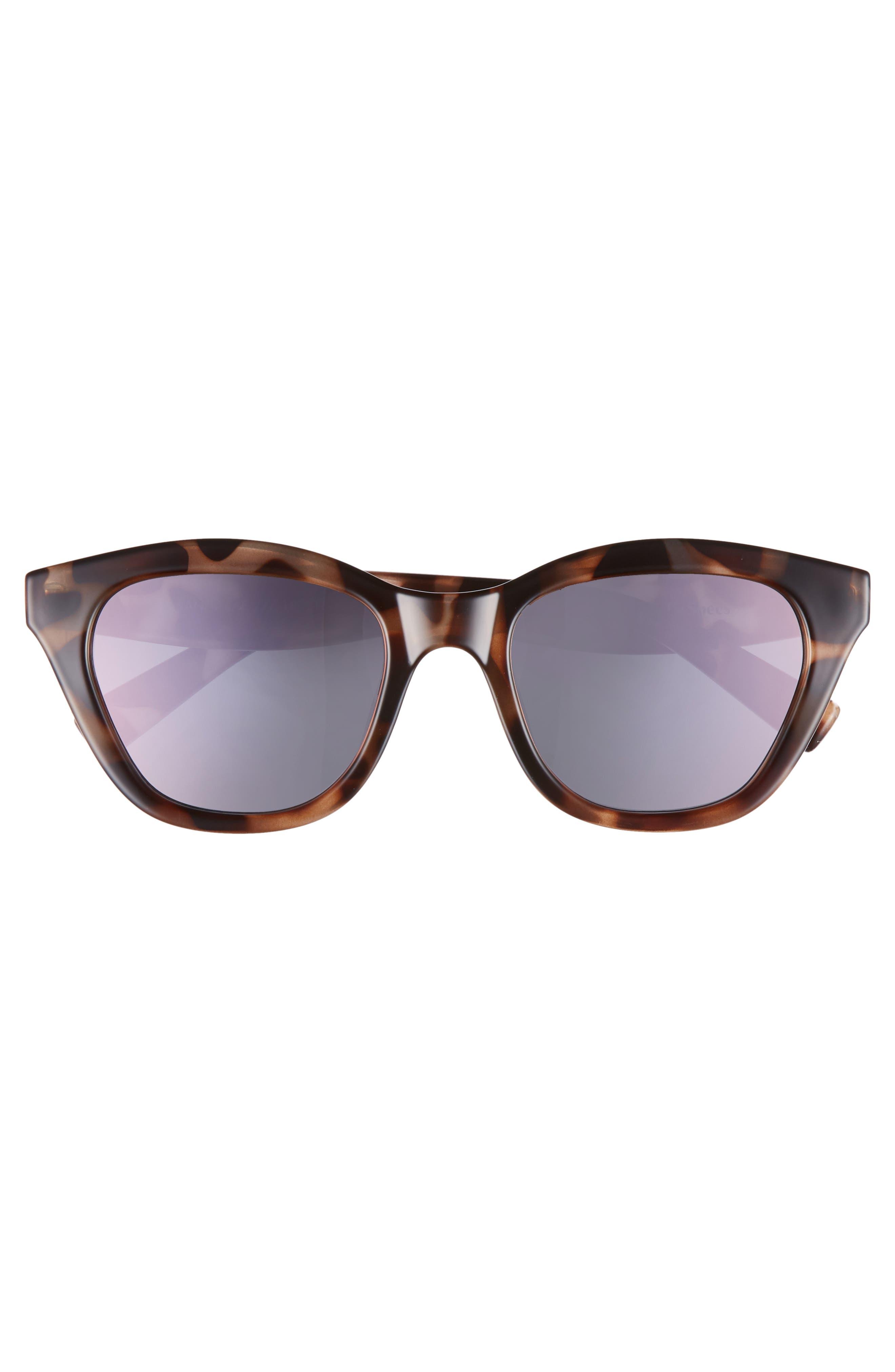 Wannabae 49mm Angular Sunglasses,                             Alternate thumbnail 3, color,                             Volcanic Tort