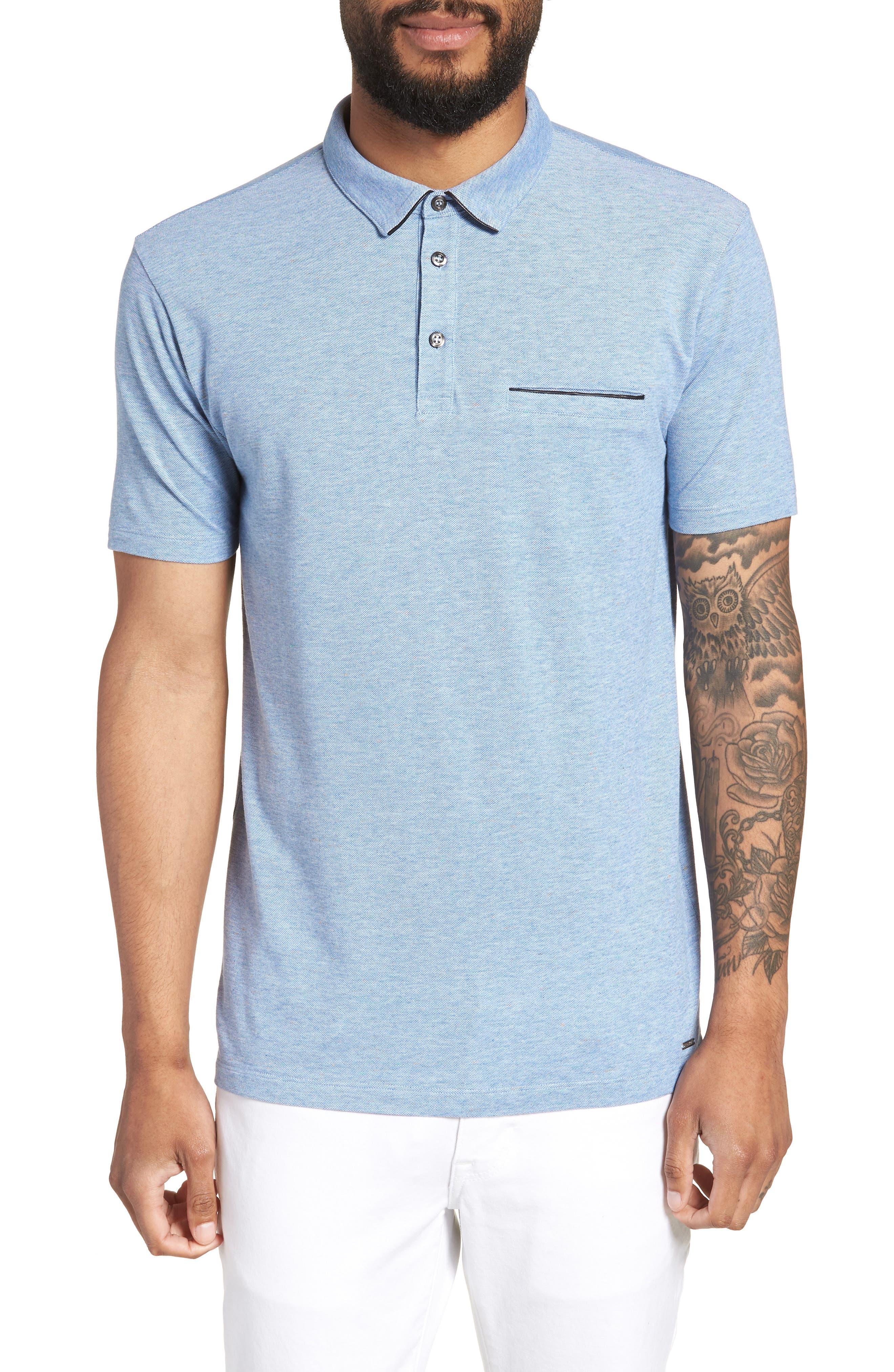 Darrow Cotton Polo Shirt,                         Main,                         color, Blue