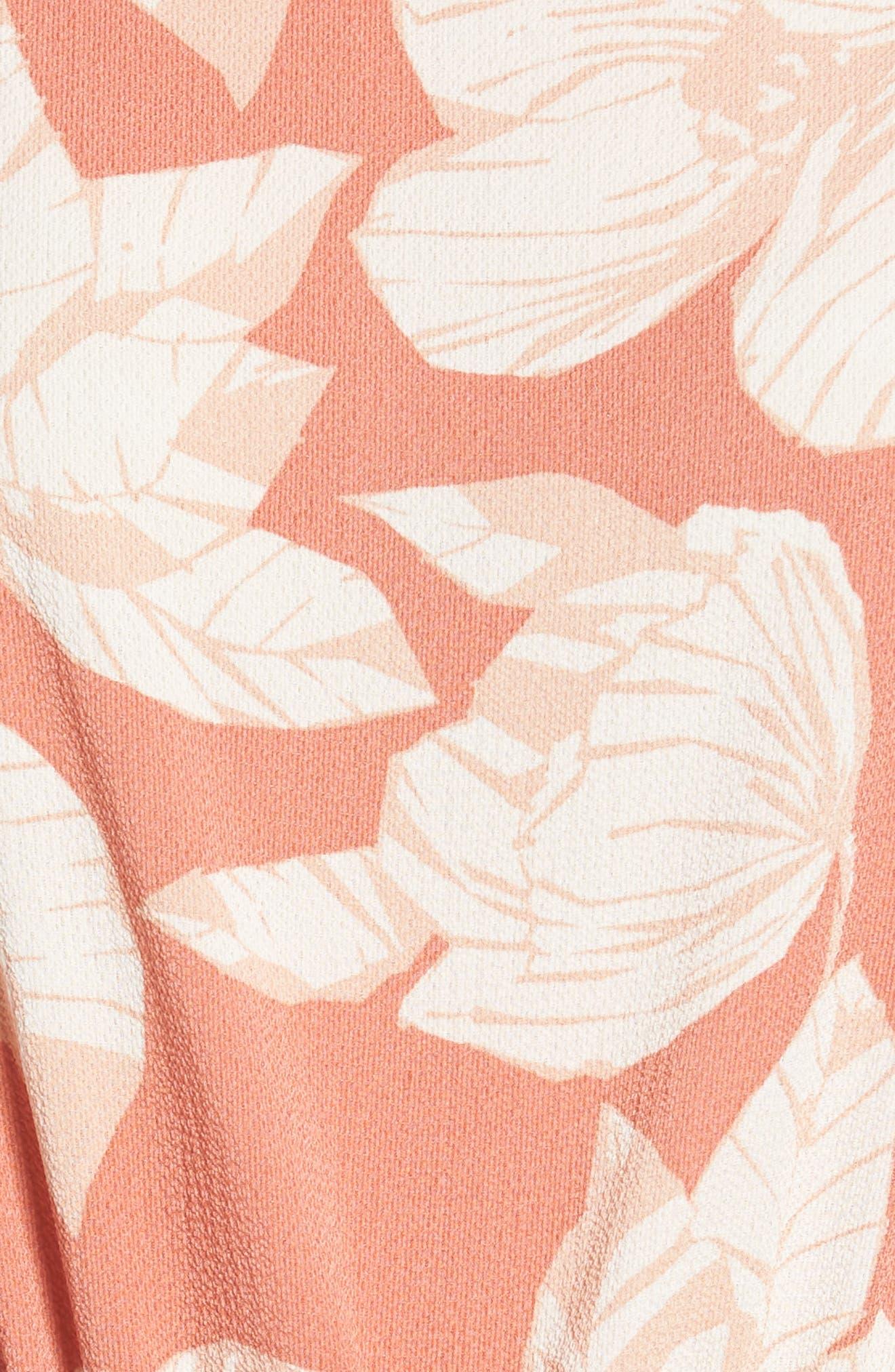 Tie Waist Jumpsuit,                             Alternate thumbnail 5, color,                             Peach