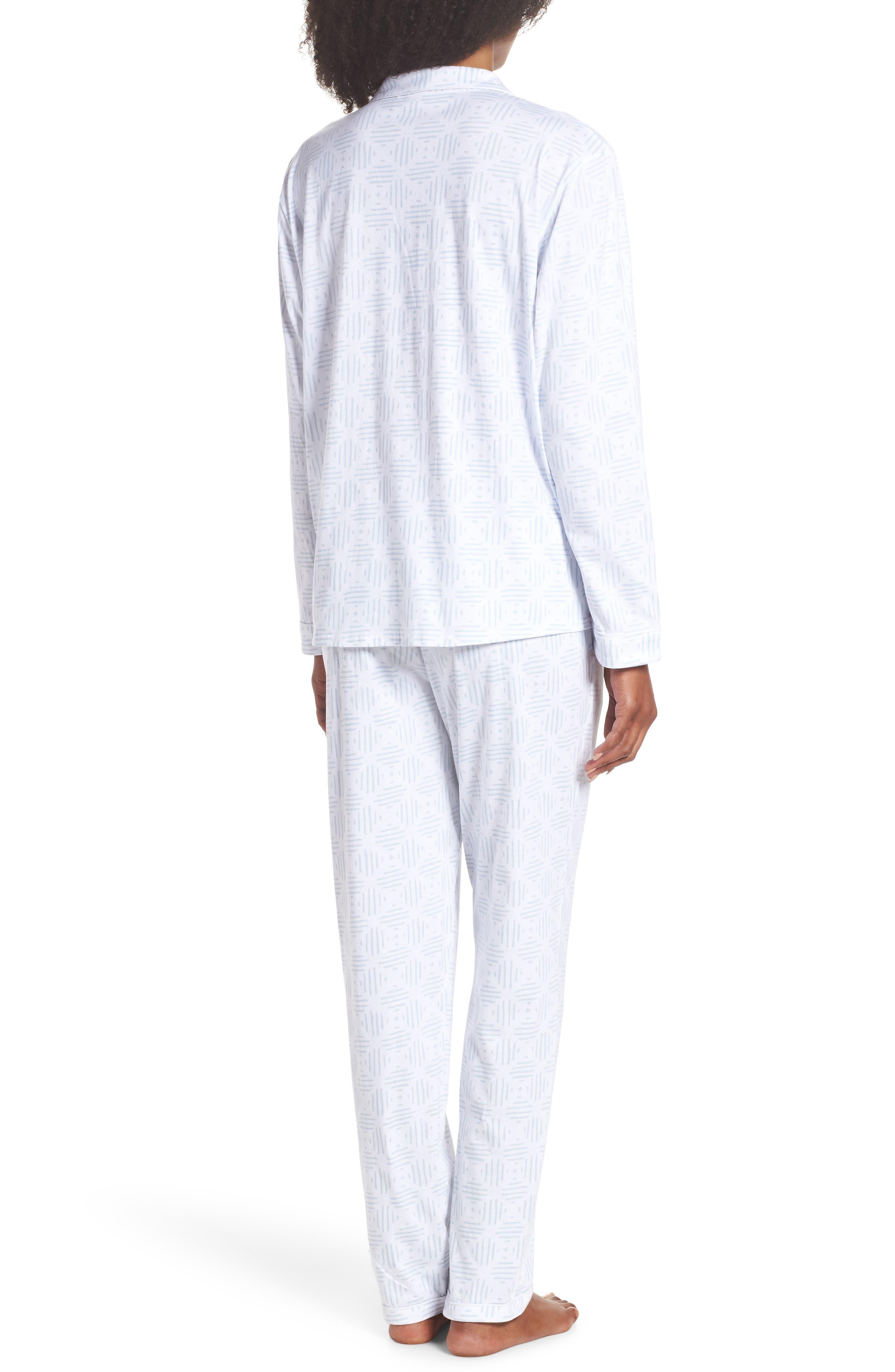 Moroccan Tile Pajamas,                             Alternate thumbnail 2, color,                             Moro Tile Blue