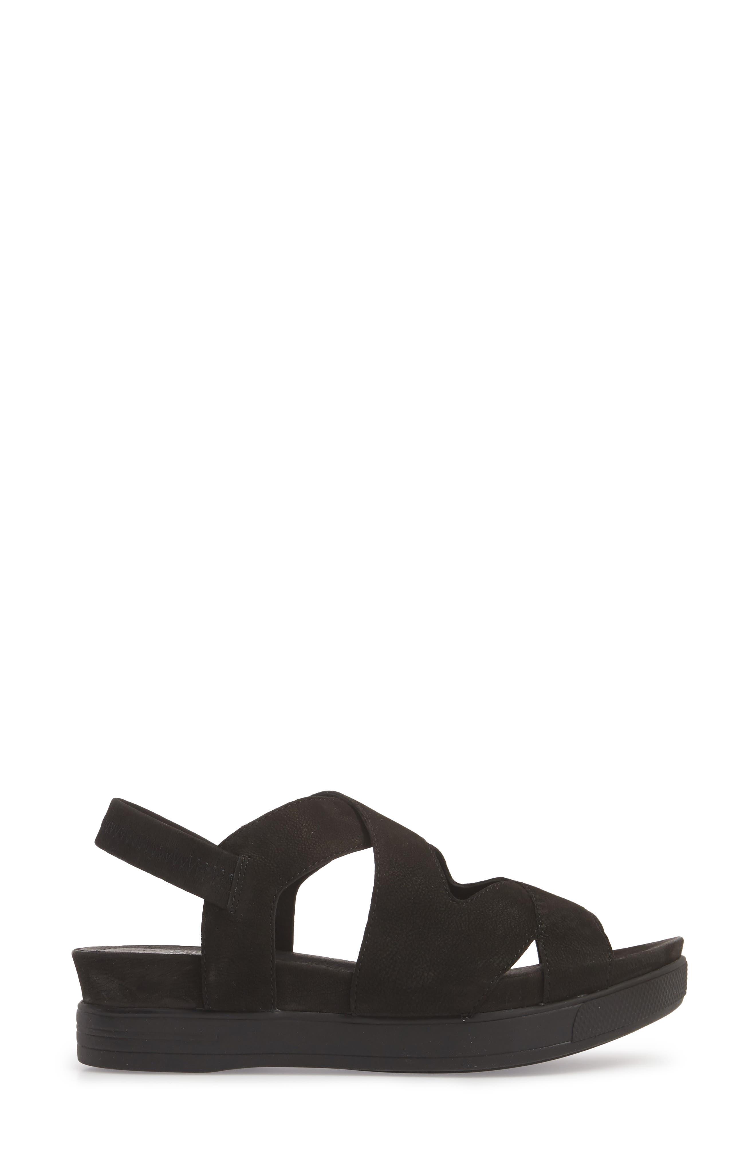 Sonny Sandal,                             Alternate thumbnail 3, color,                             Black Nubuck Leather