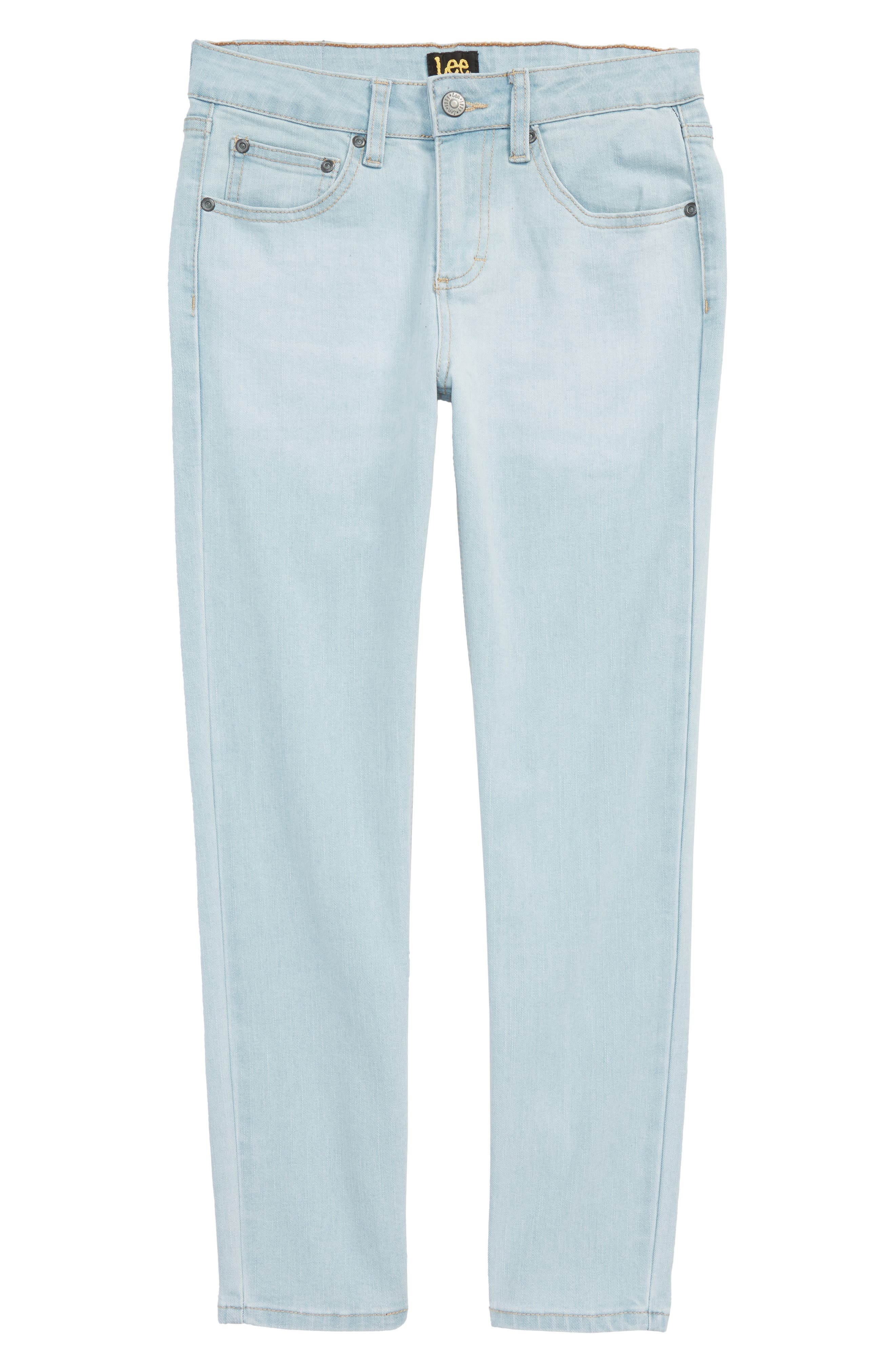 Stretch Straight Leg Jeans,                         Main,                         color, Waterfall