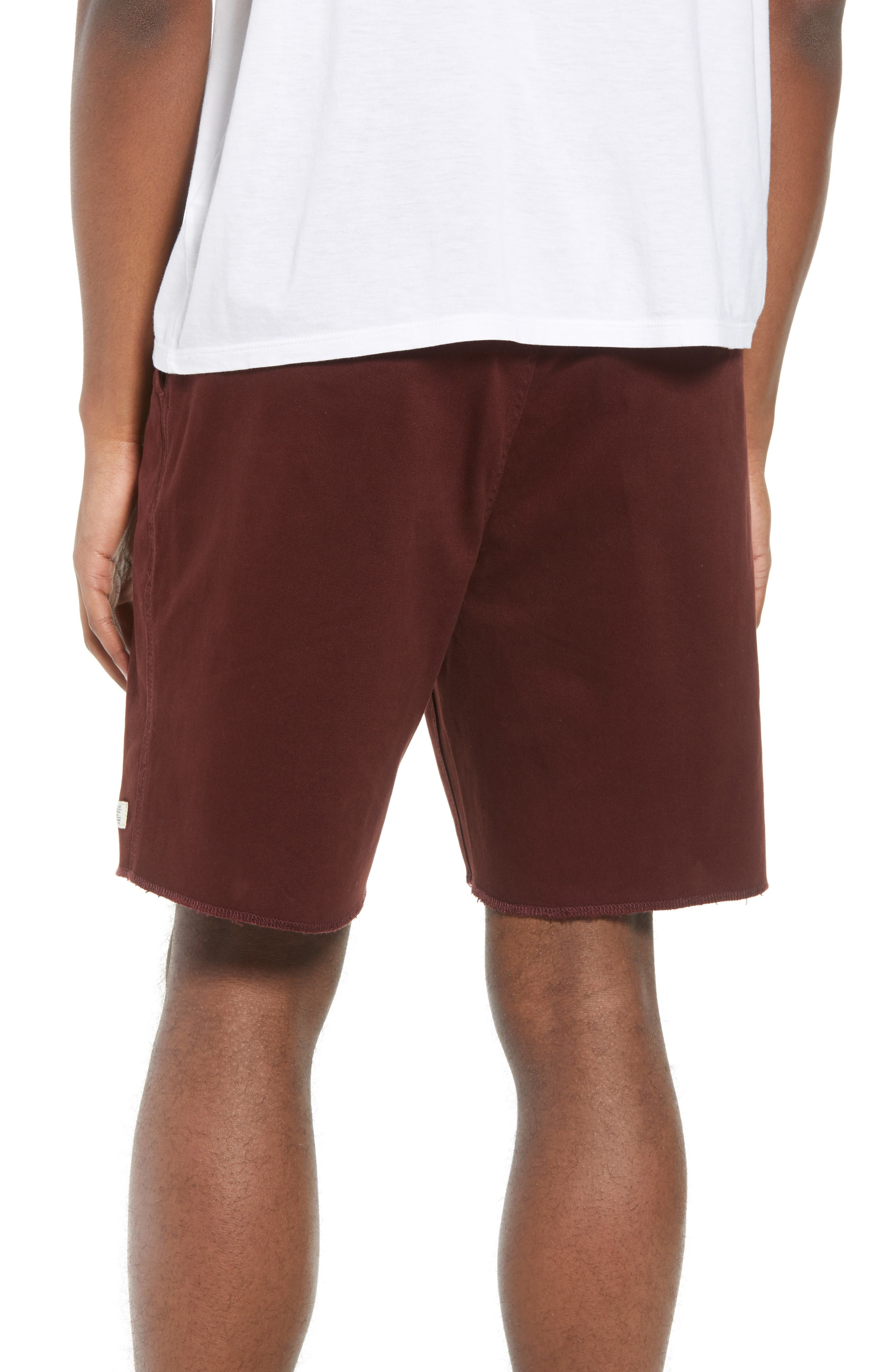 Weekday Shorts,                             Alternate thumbnail 2, color,                             Burgundy