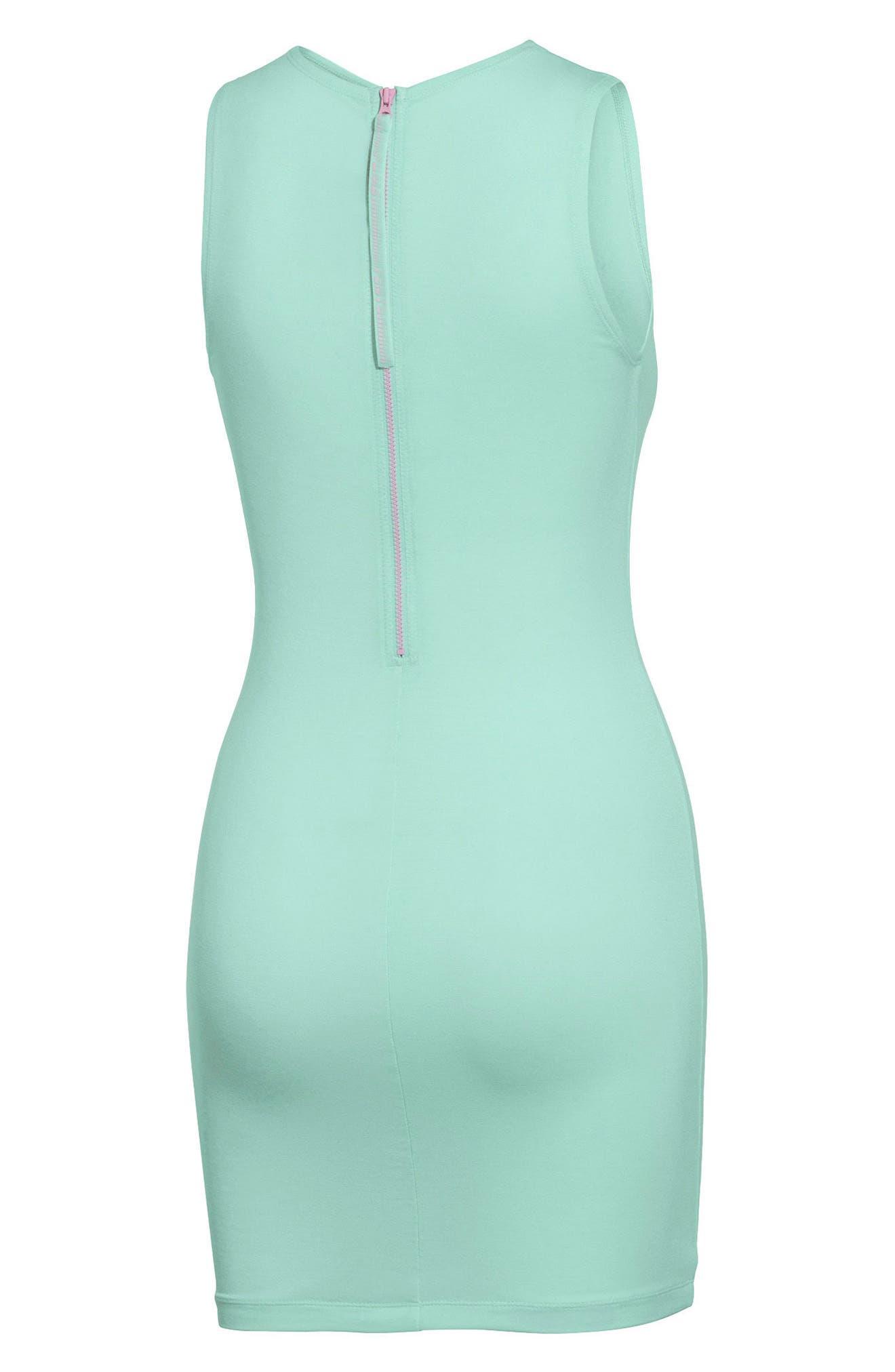 PUMA by Rihanna Body-Con Dress,                             Alternate thumbnail 2, color,                             Bay