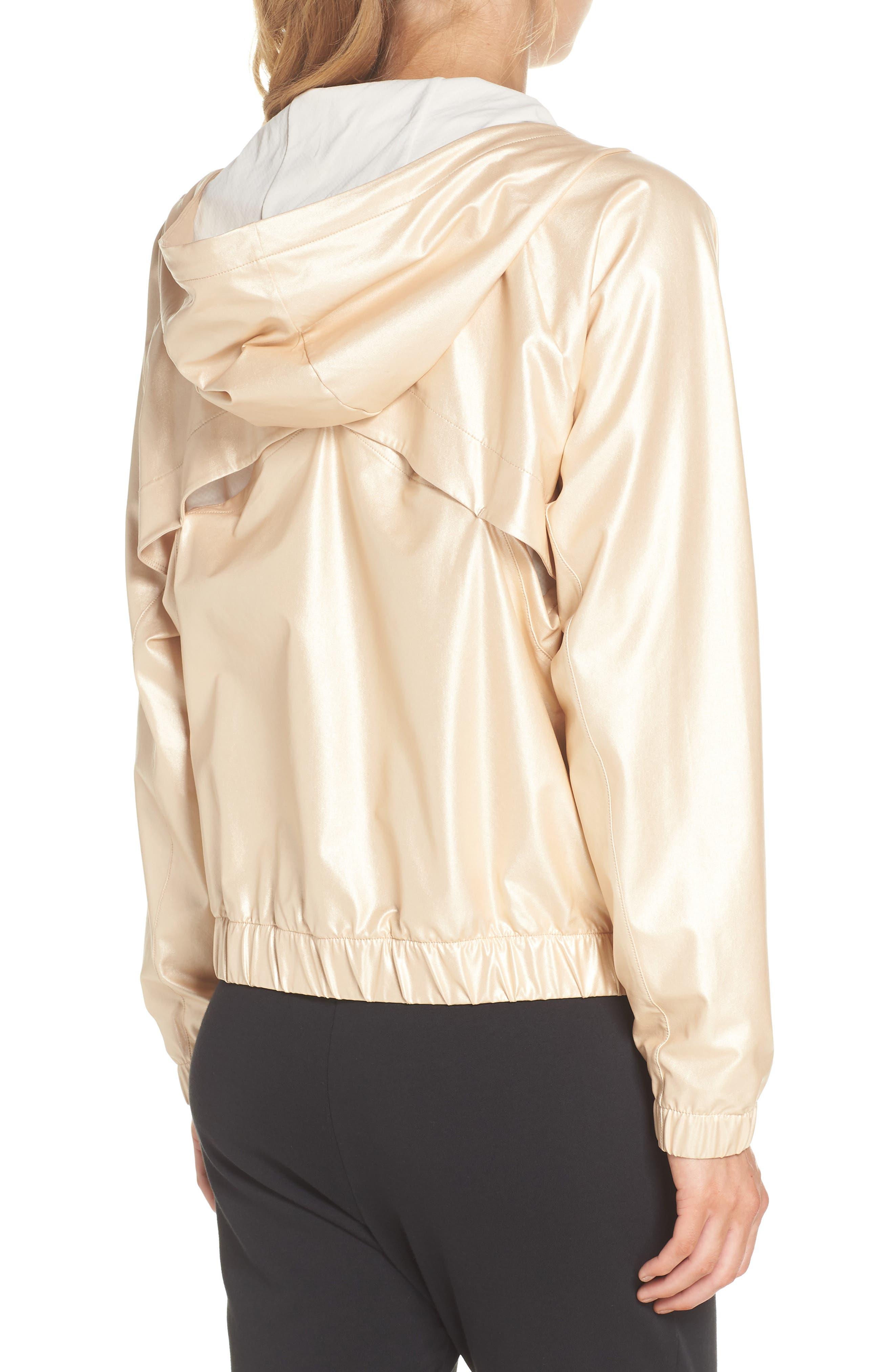 Style Game Shine Hooded Jacket,                             Alternate thumbnail 3, color,                             Metallic Oro