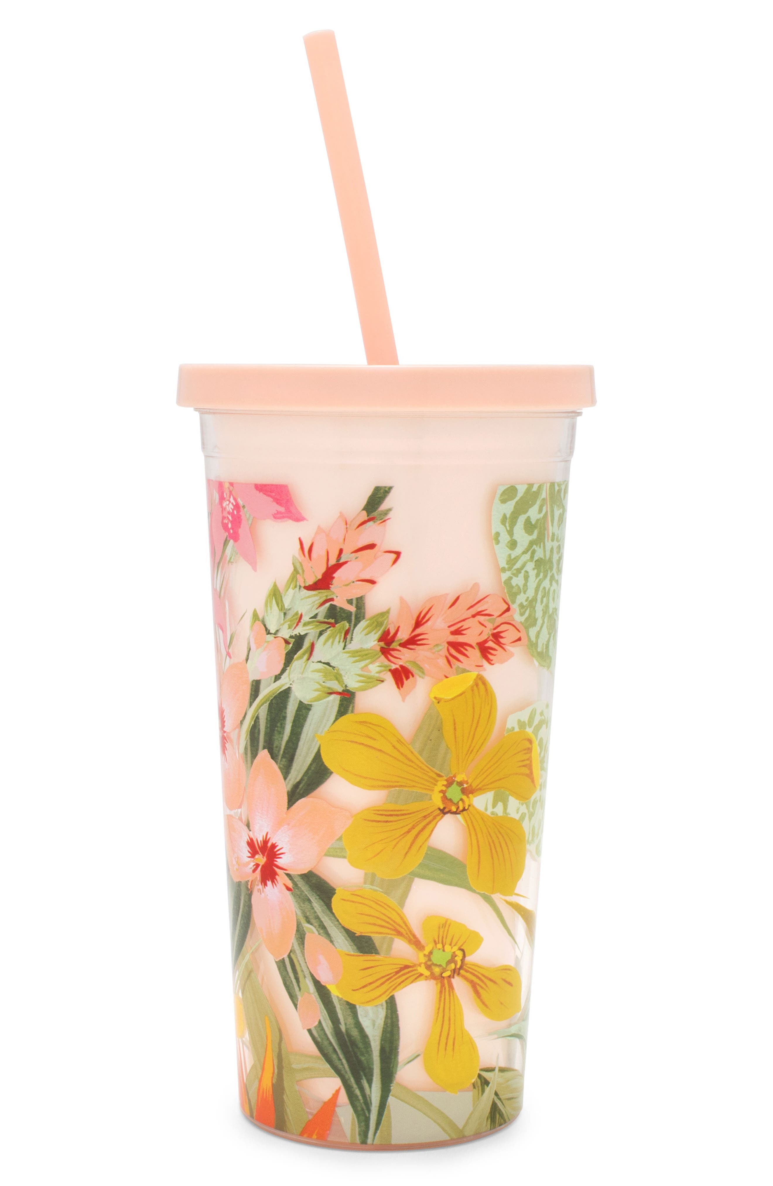Paradiso Tumbler with Straw,                         Main,                         color, Cream