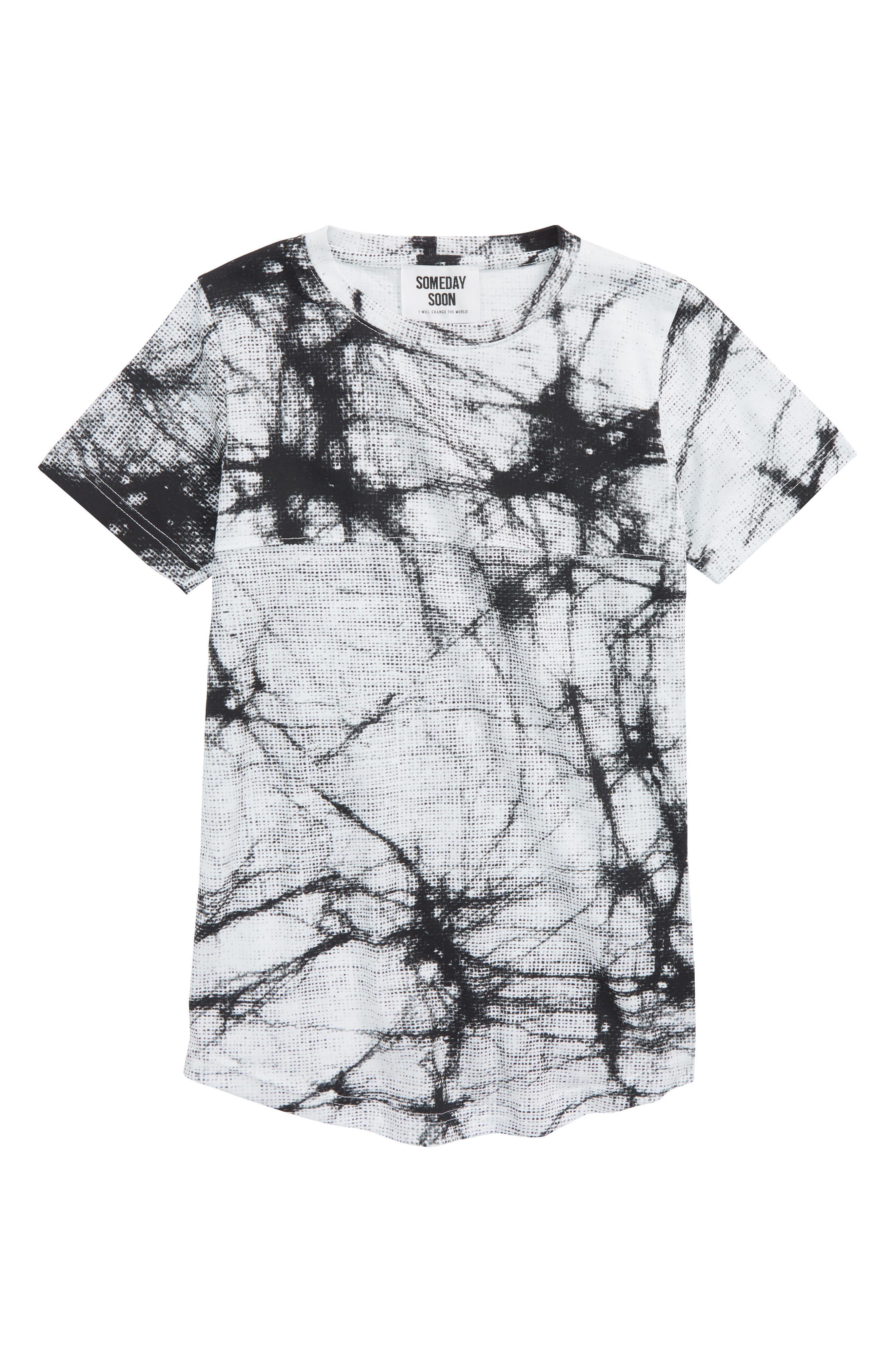 Prismo Organic Cotton T-Shirt,                             Main thumbnail 1, color,                             Aop White