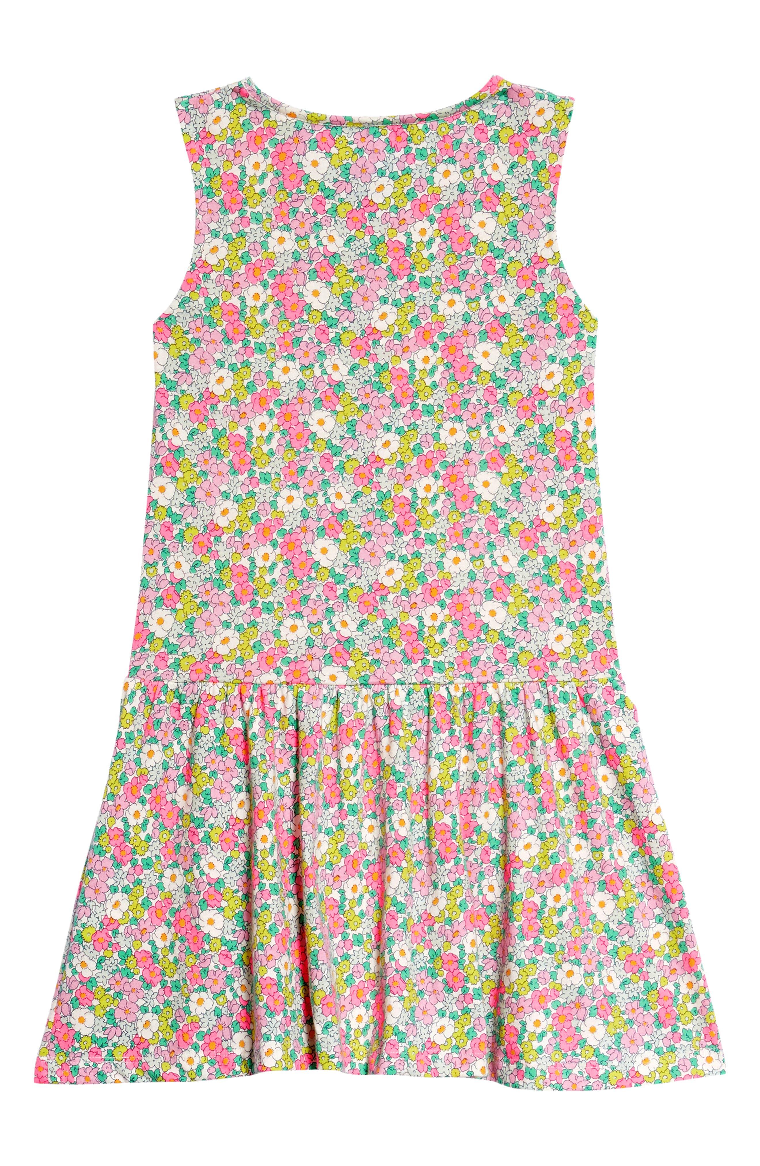 Ruffle Jersey Dress,                             Alternate thumbnail 3, color,                             Knockout Pink Vintag