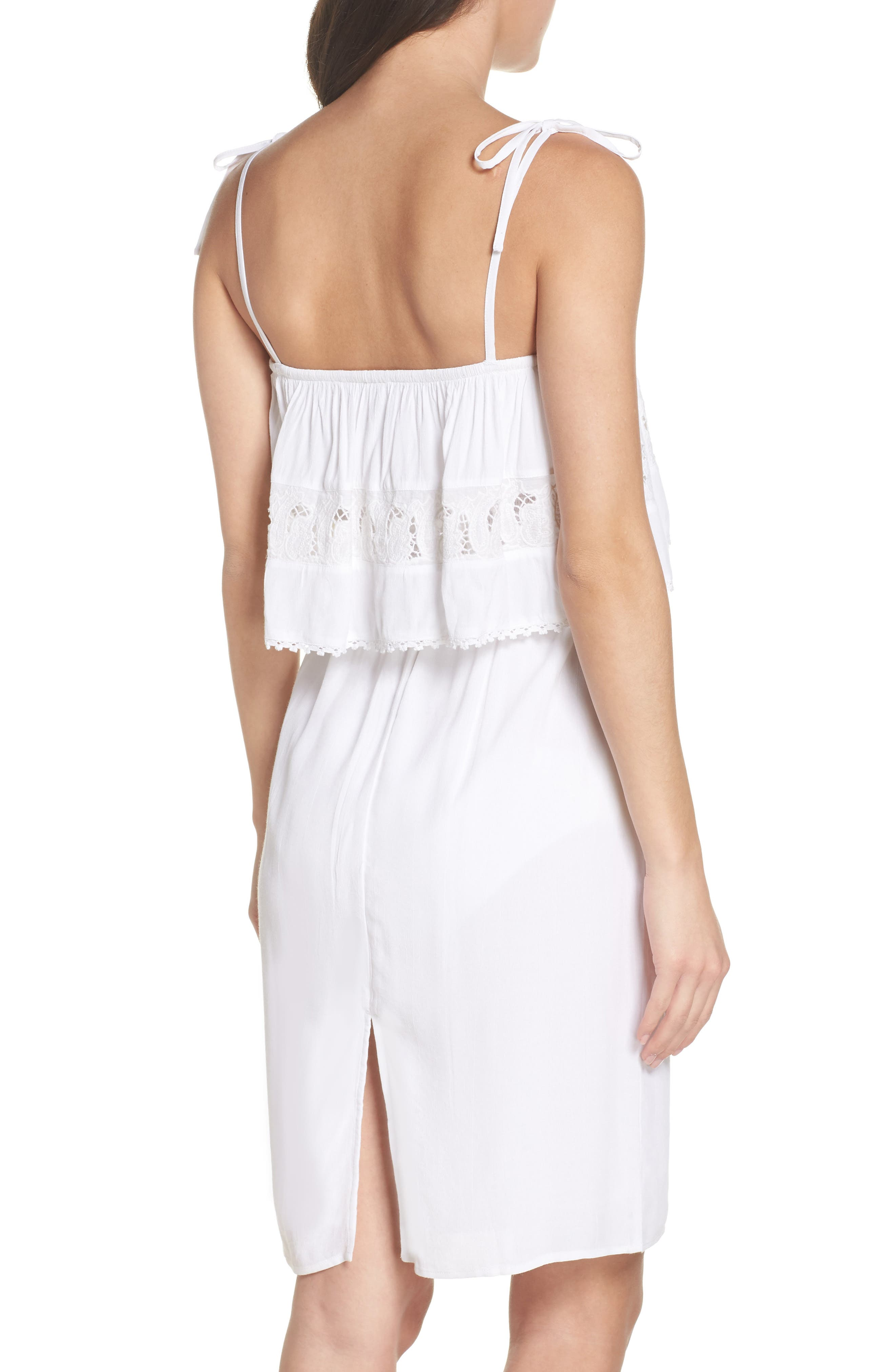 Jaclyn Cover-Up Dress,                             Alternate thumbnail 2, color,                             White