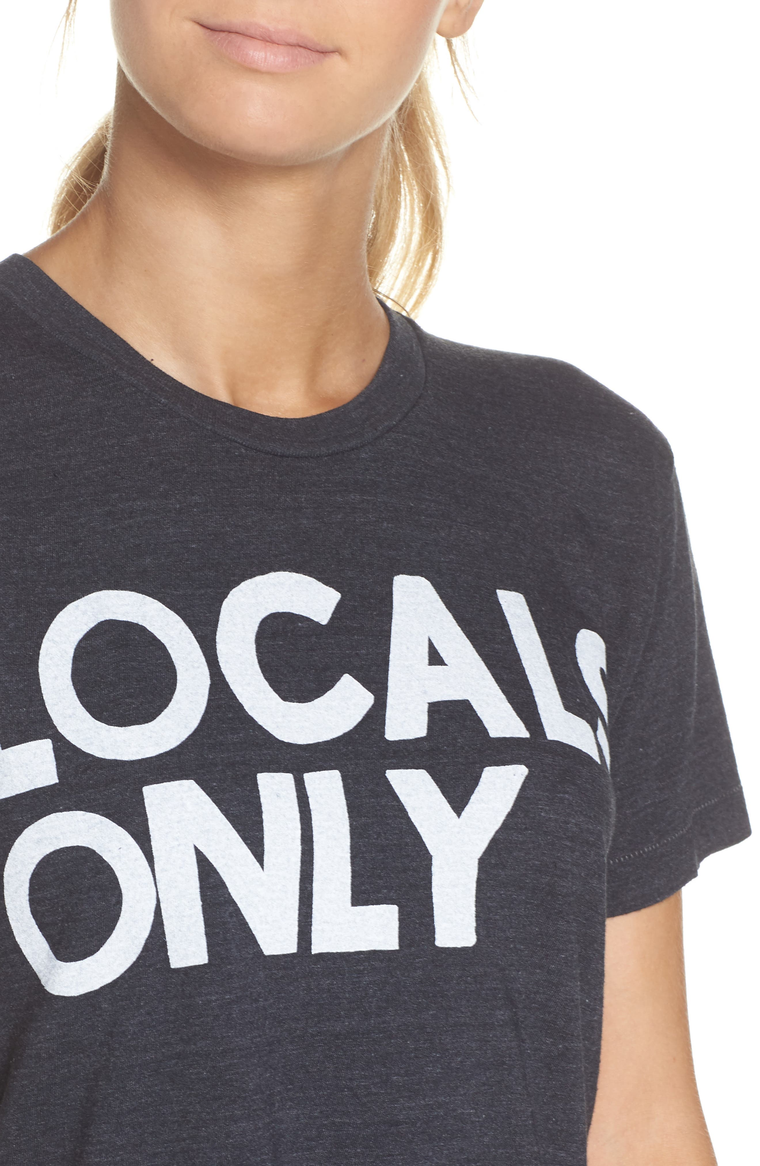 Locals Only Boyfriend Tee,                             Alternate thumbnail 6, color,                             Charcoal