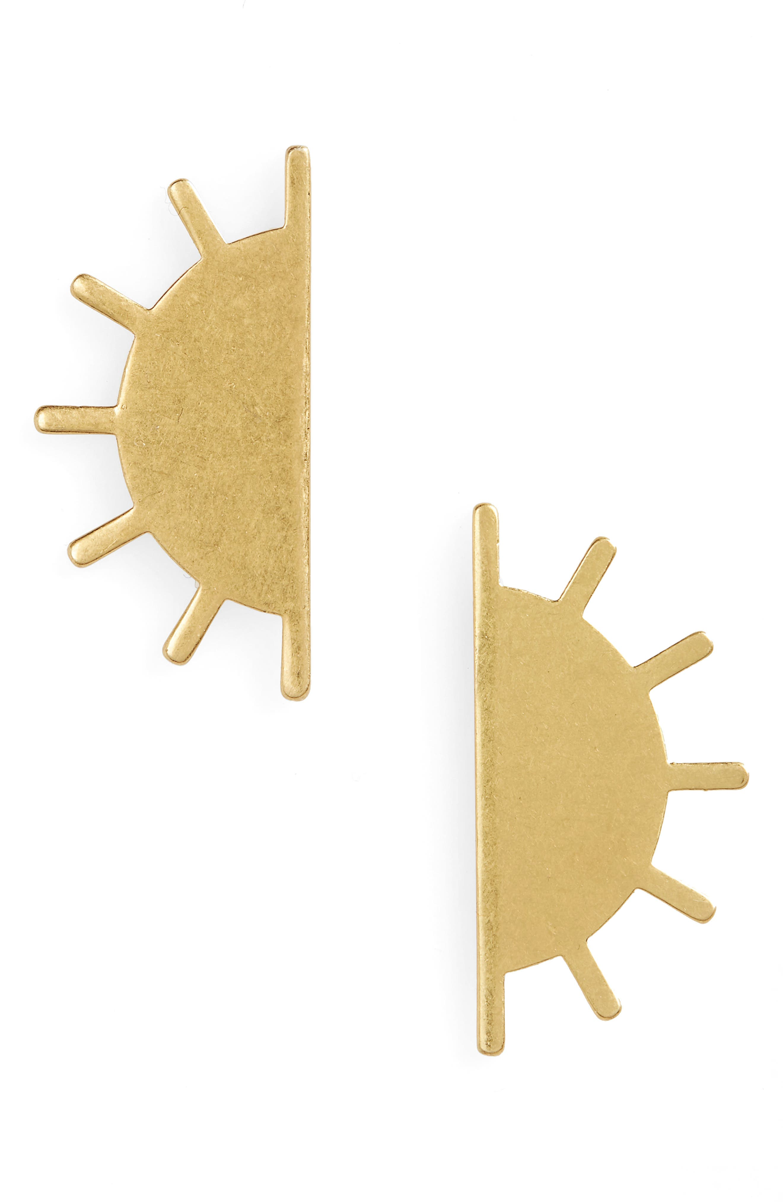 Sunset Post Earrings,                         Main,                         color, Vintage Gold