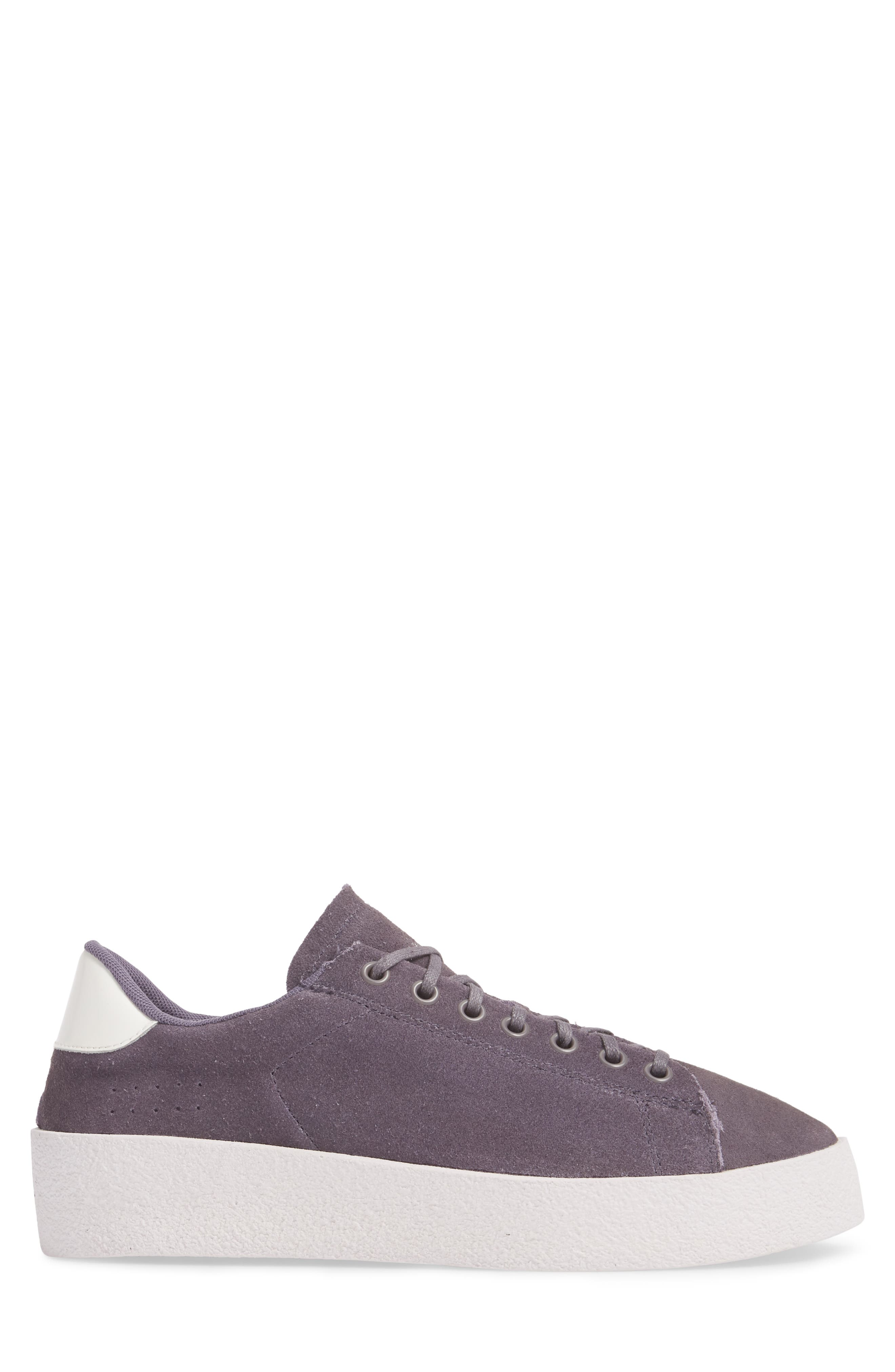 Jones Platform Sneaker,                             Alternate thumbnail 3, color,                             Purple Leather