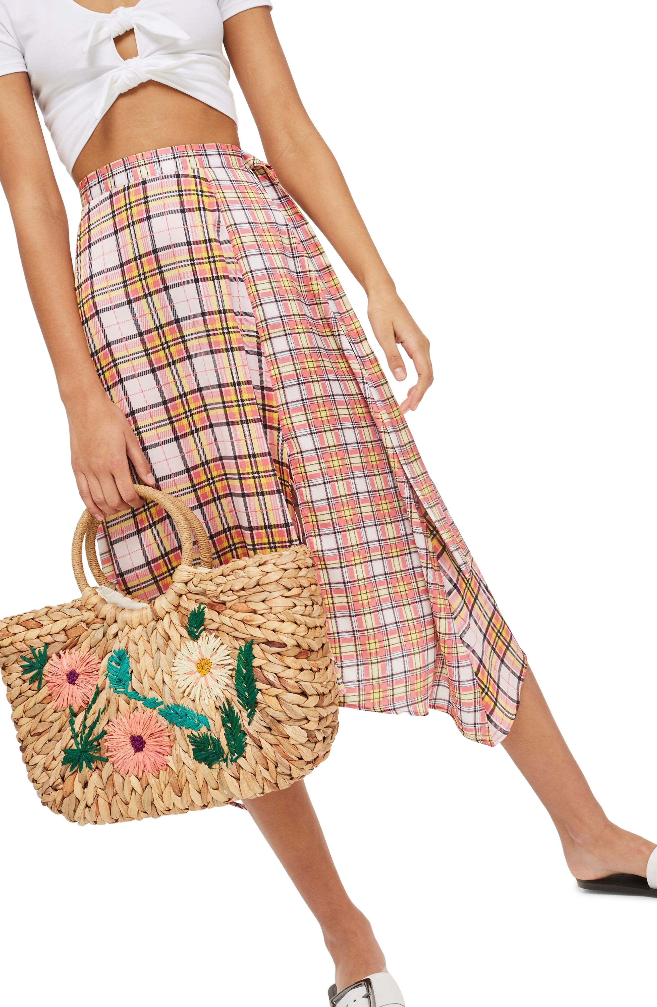 Beverly Floral Embroidered Straw Tote Bag,                             Alternate thumbnail 2, color,                             Nude Multi