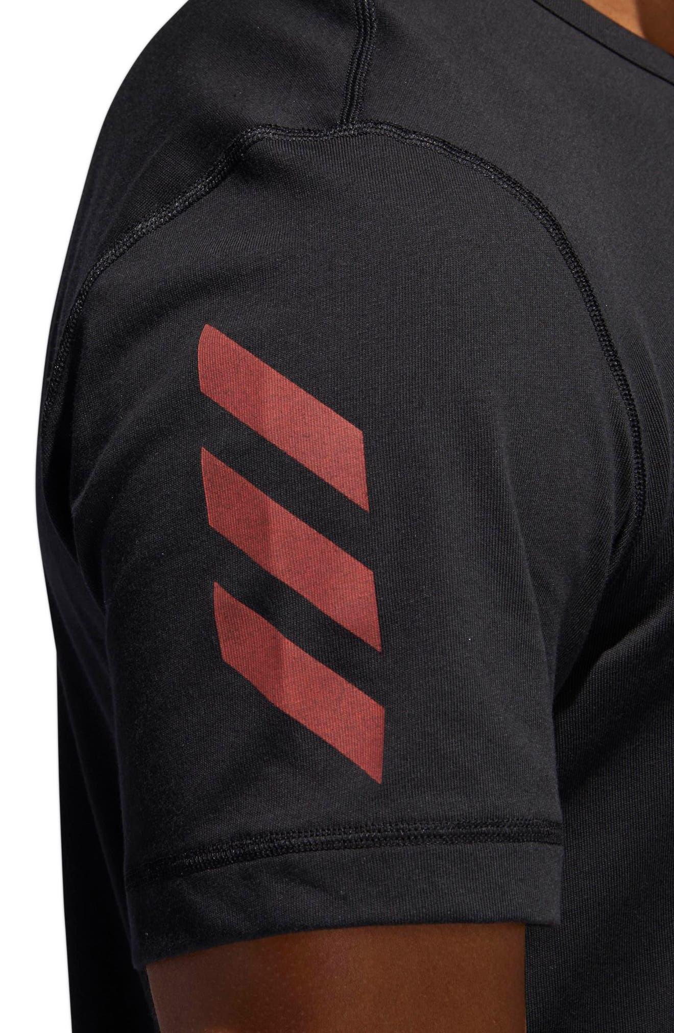 Harden Brand Slogan T-Shirt,                             Alternate thumbnail 6, color,                             Black
