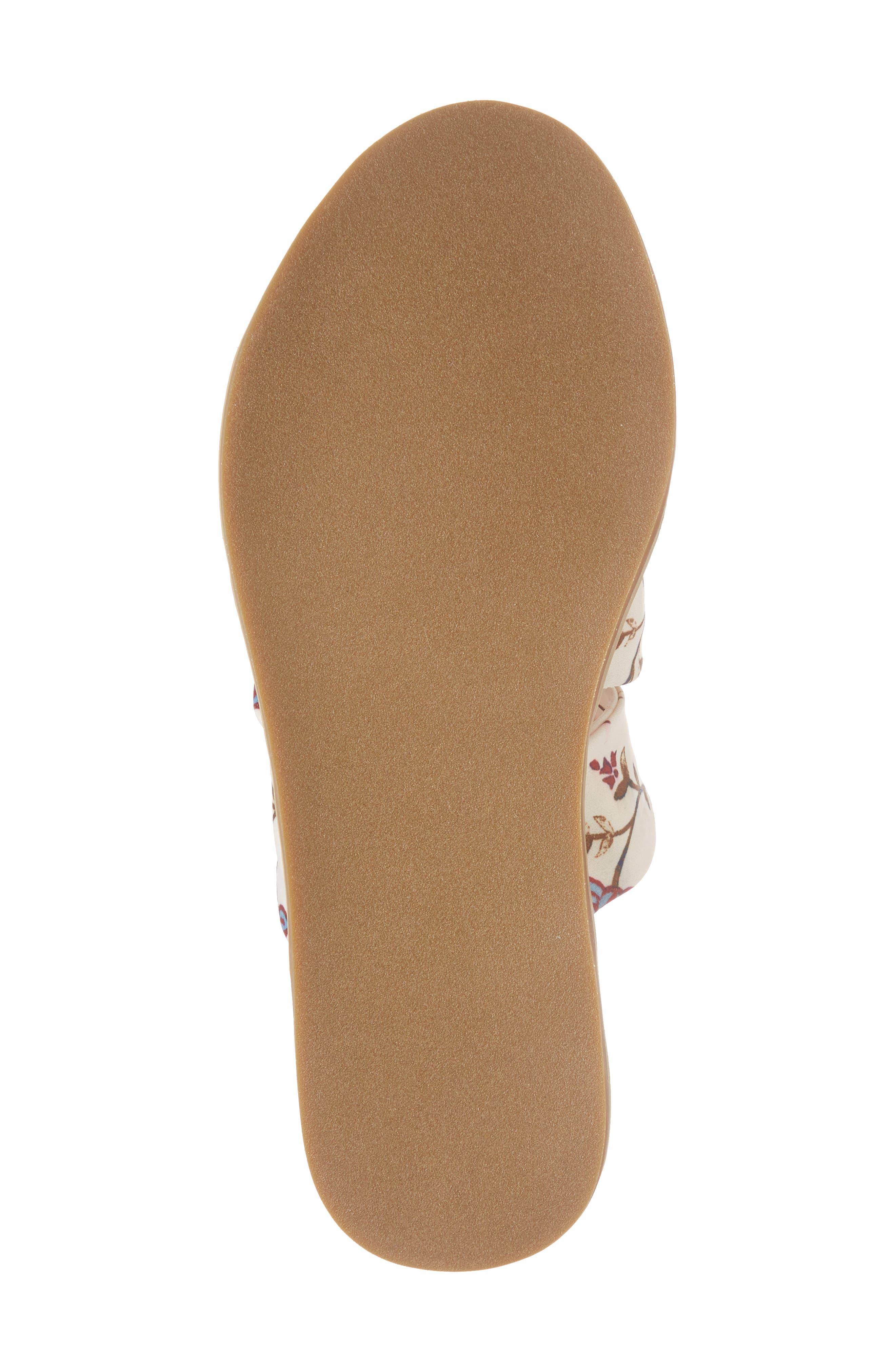 Cooper Slide Sandal,                             Alternate thumbnail 6, color,                             White Agrestic Fabric