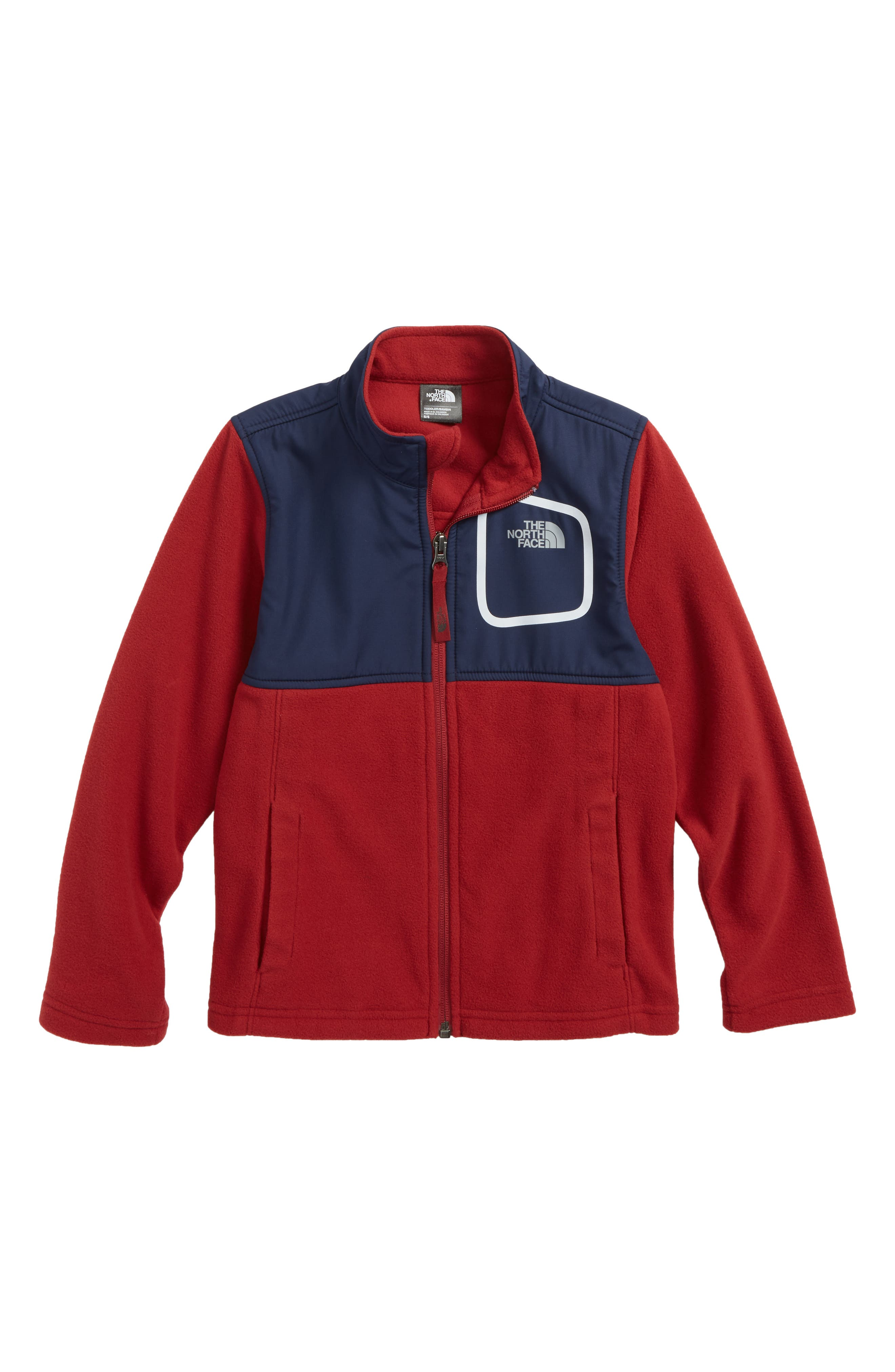 Peril Glacier Microfleece Track Jacket,                             Main thumbnail 1, color,                             Biking Red/ Cosmic Blue