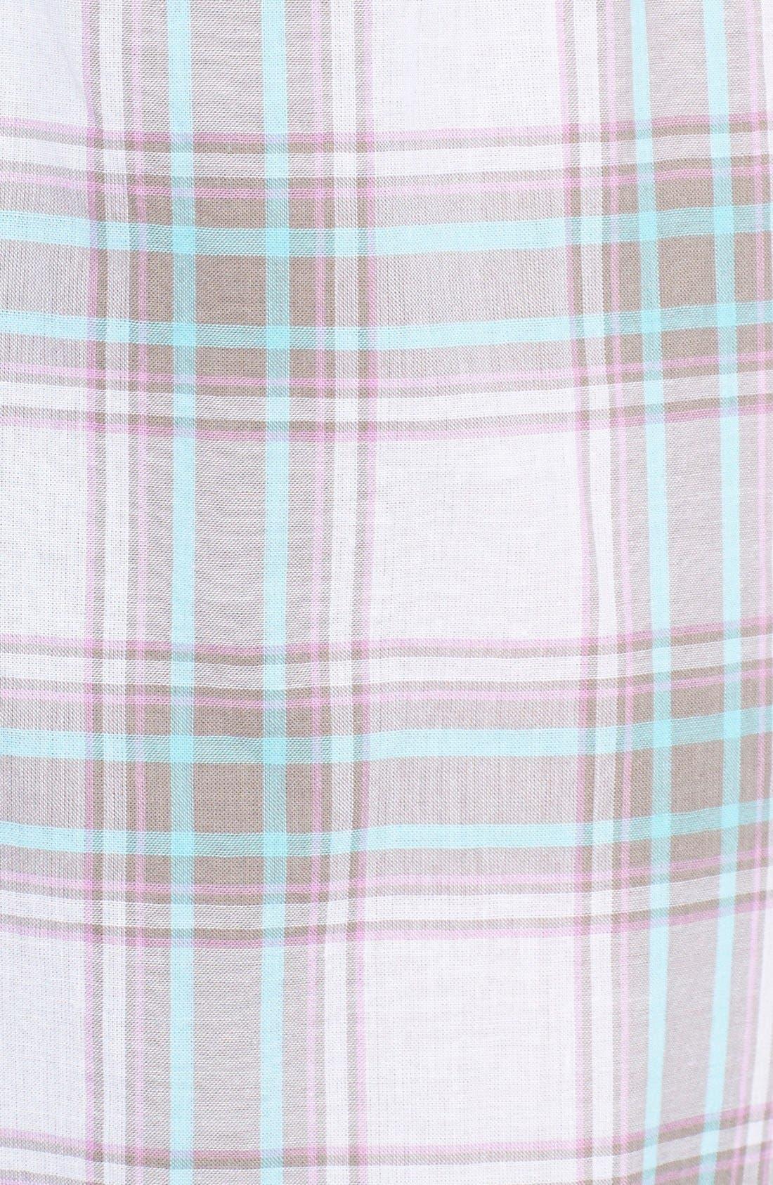 Alternate Image 3  - PJ Salvage Plaid Cotton Voile Pajama Pants