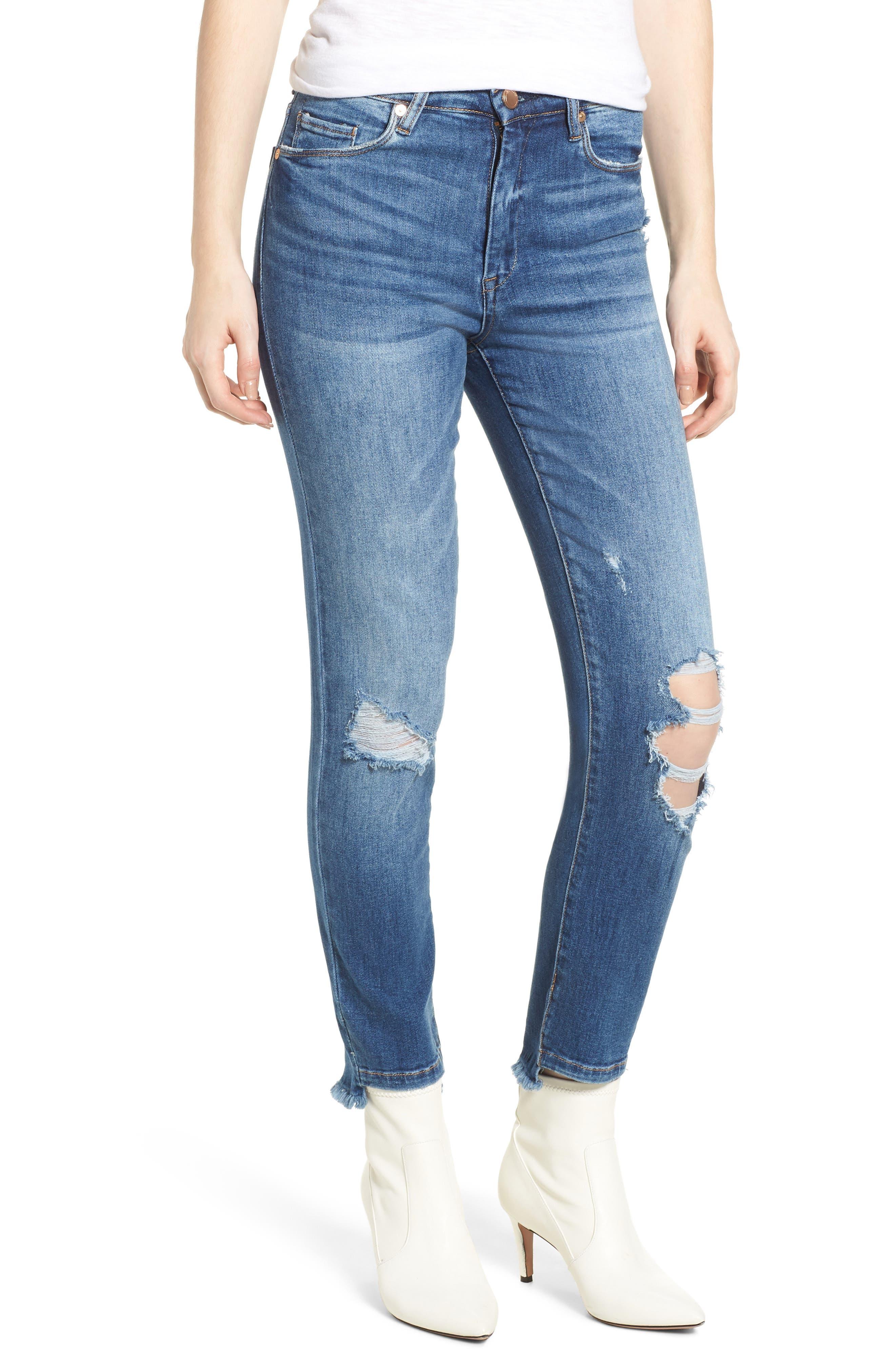 BLANKNYC The Great Jones Ripped Crop Skinny Jeans (Play Hard)