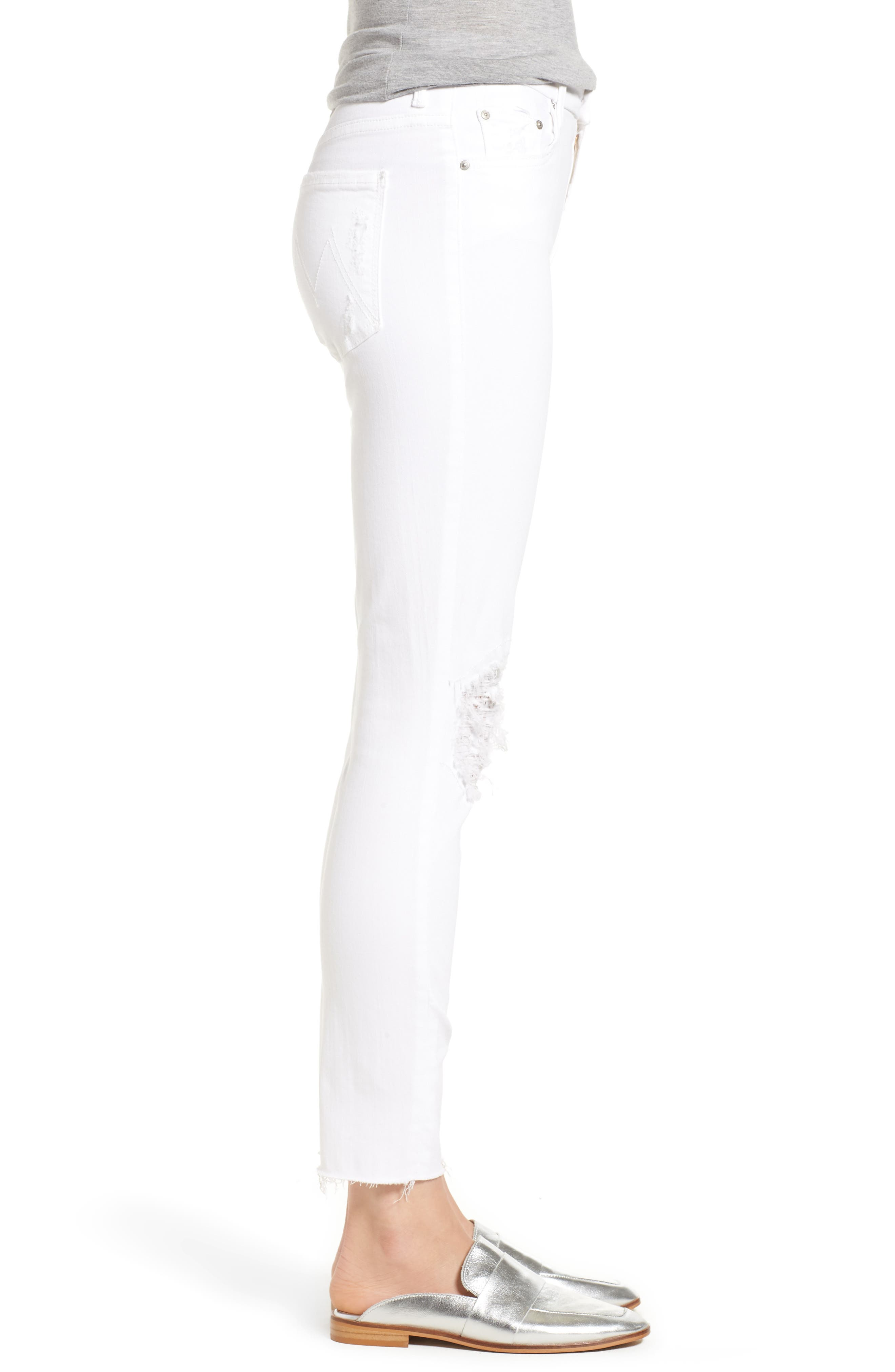The Looker Frayed Ankle Skinny Jeans,                             Alternate thumbnail 3, color,                             Little Miss Lacey