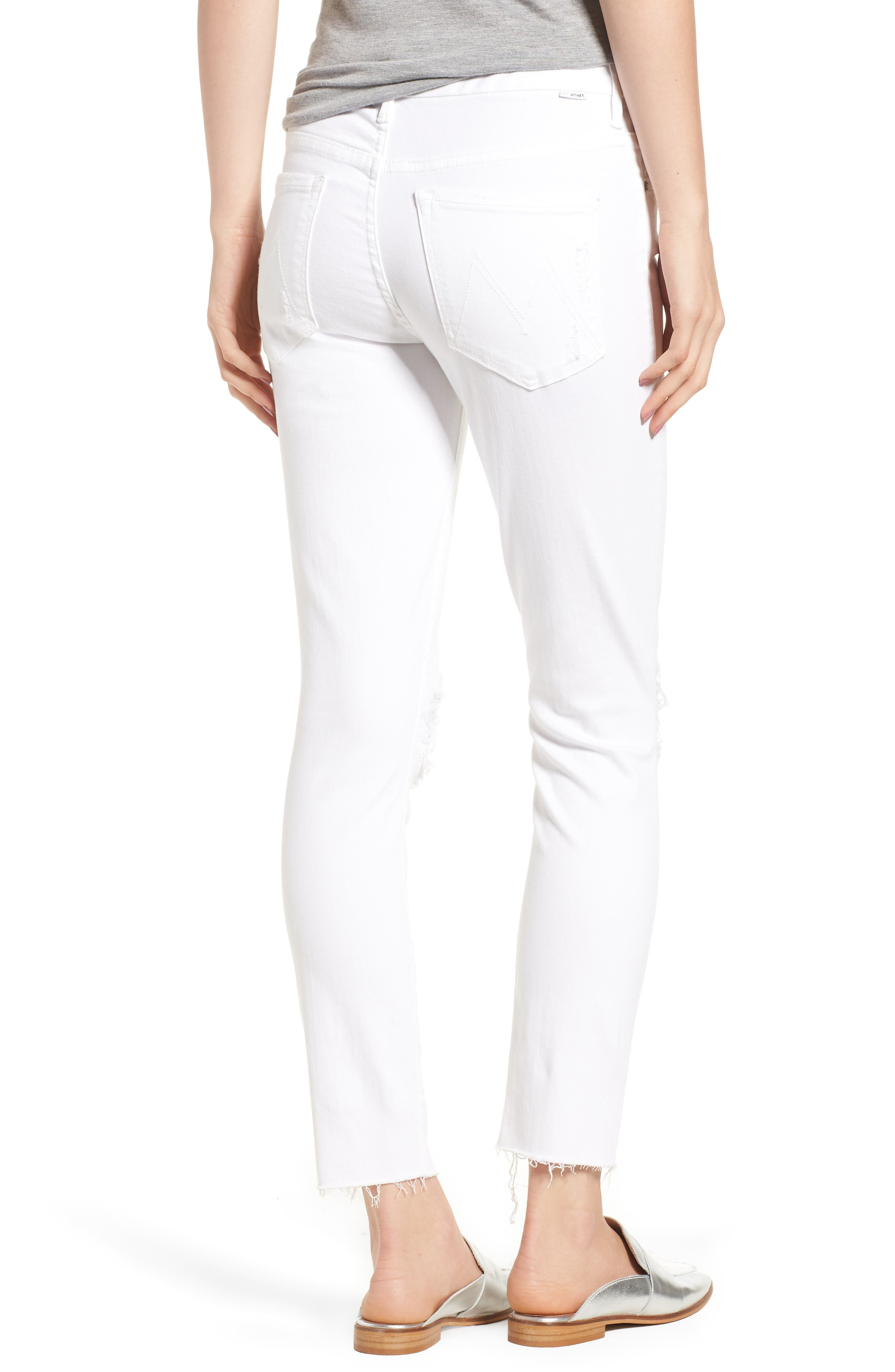 The Looker Frayed Ankle Skinny Jeans,                             Alternate thumbnail 2, color,                             Little Miss Lacey