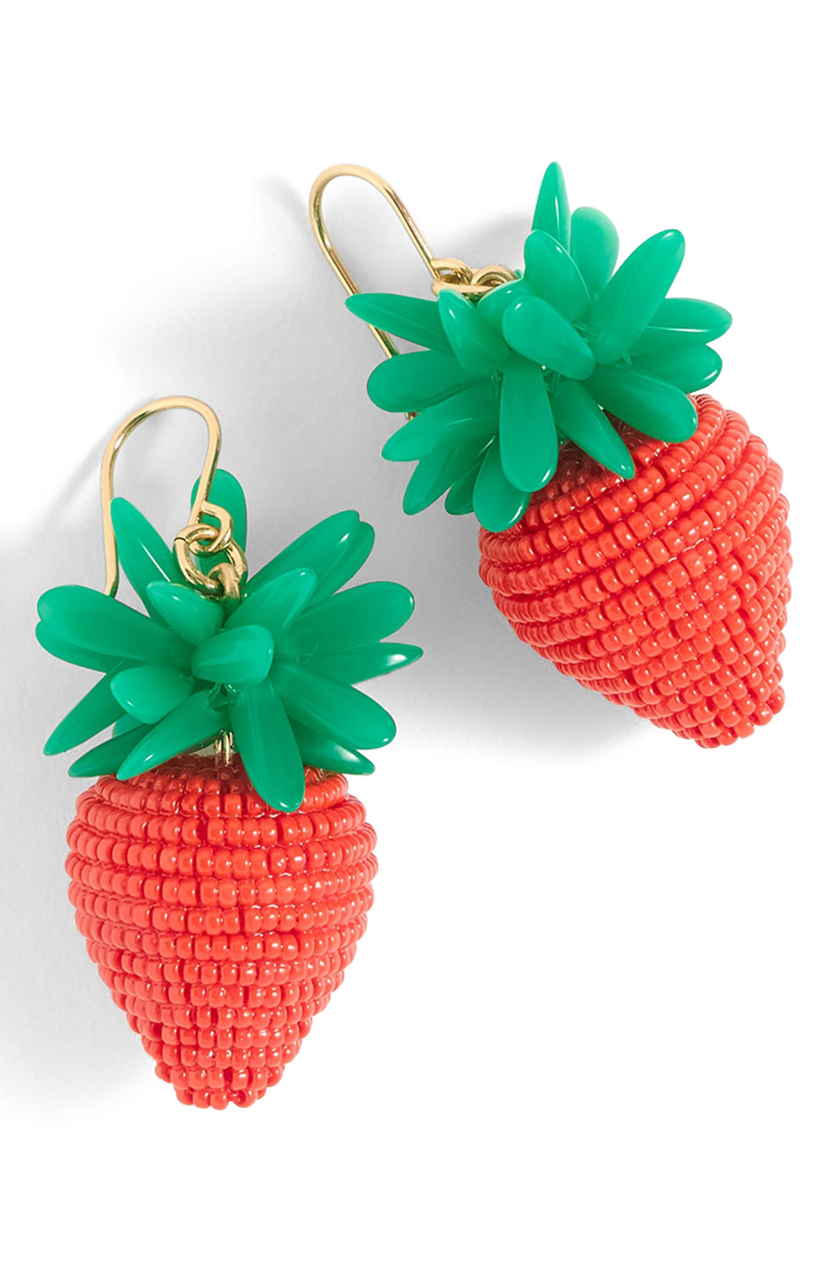 J.Crew Strawberry Earrings