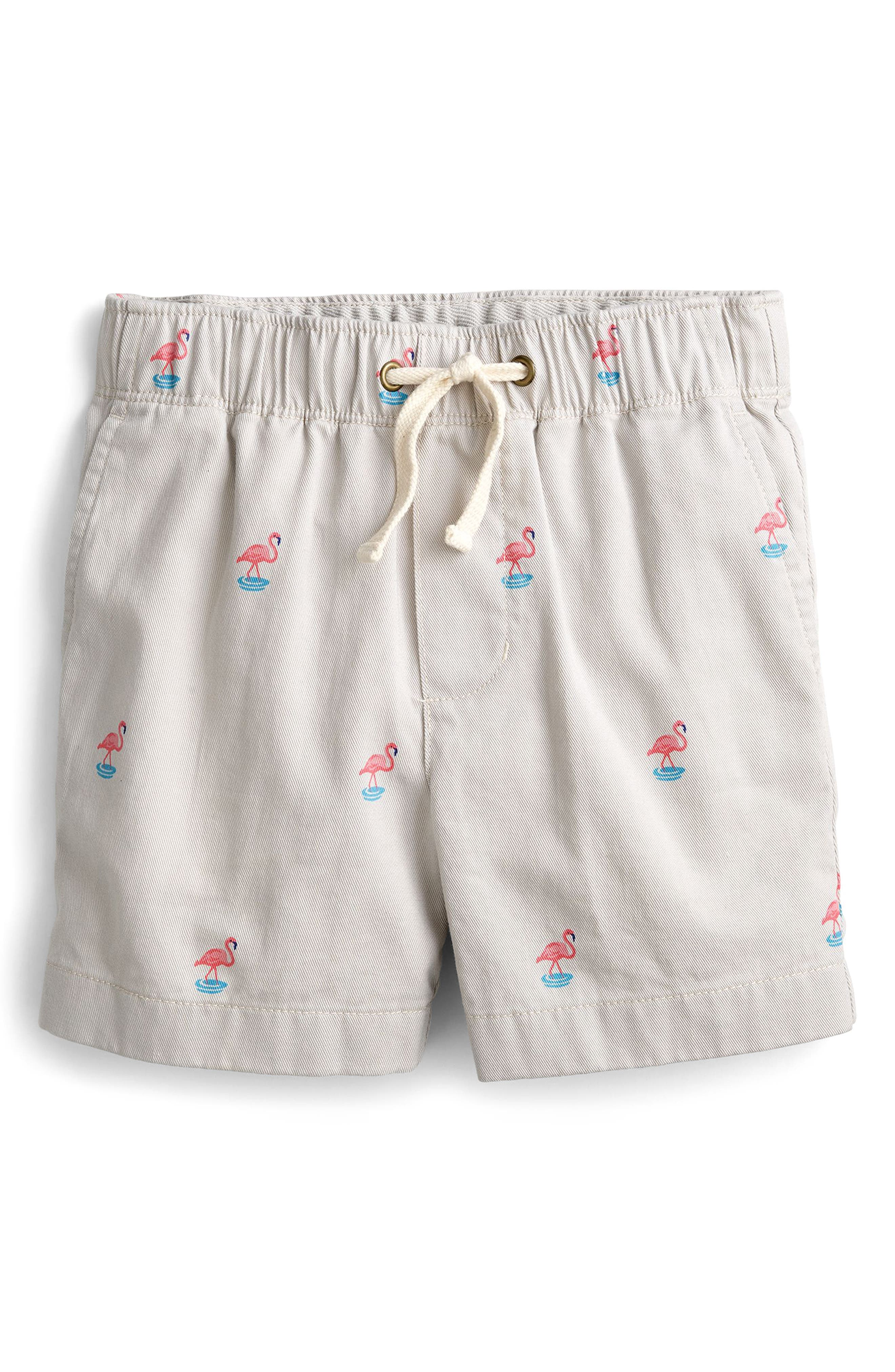 Dock Short in Critter Flamingo,                             Main thumbnail 1, color,                             Oyster Grey