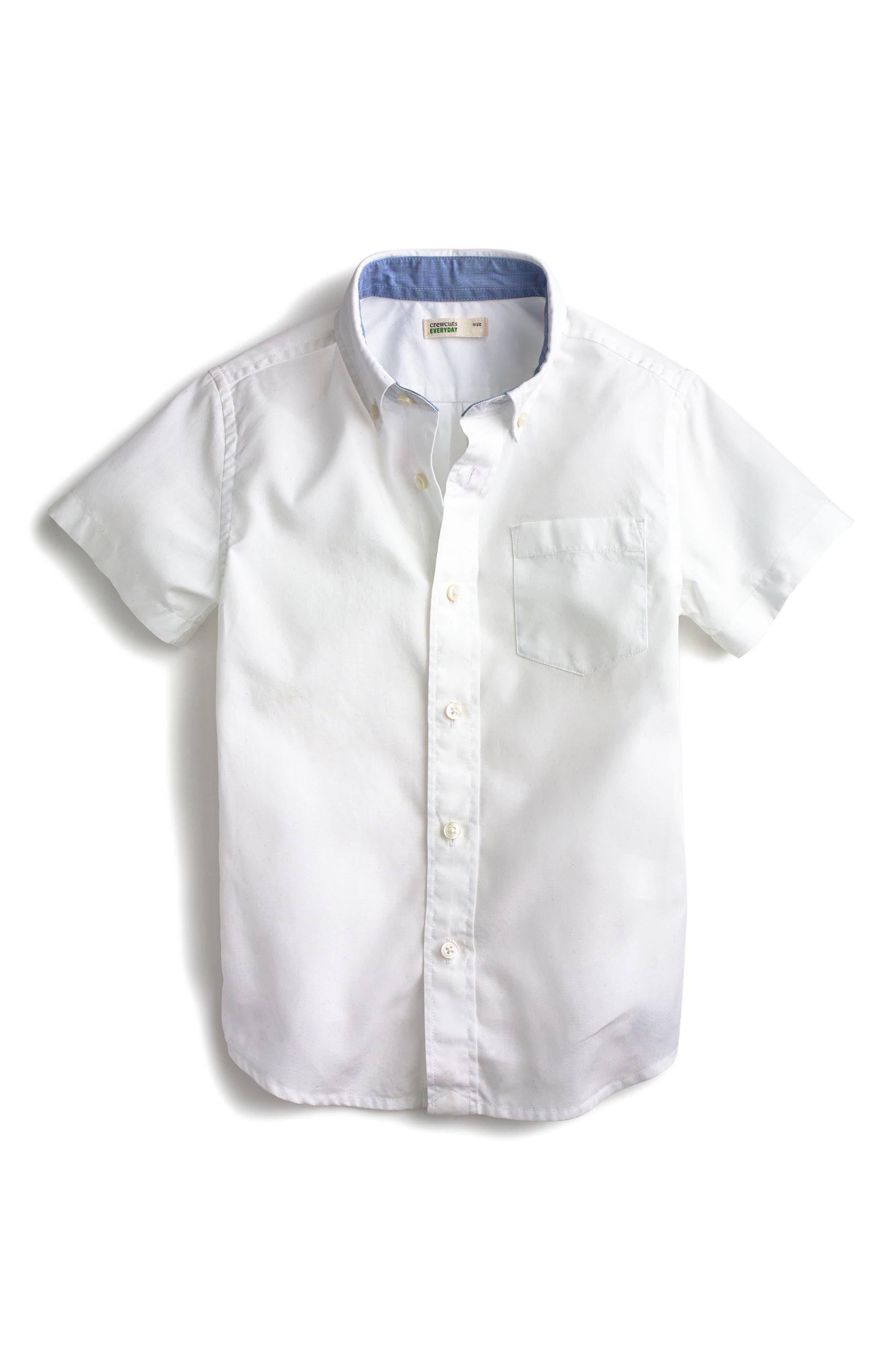 crewcuts by J.Crew Secret Wash Woven Shirt (Toddler Boys, Little Boys & Big Boys)