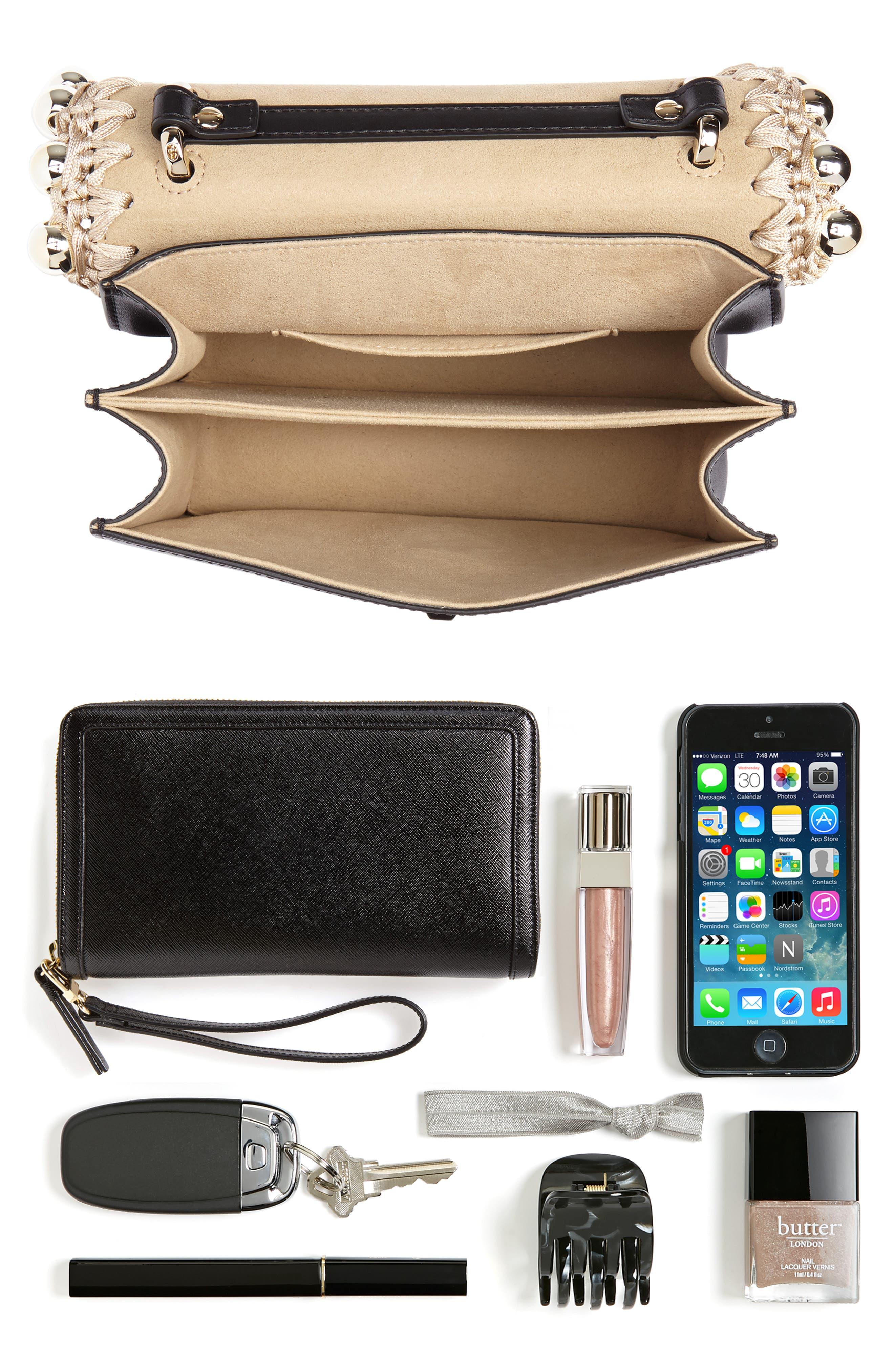 Small Kan I Leather Shoulder Bag,                             Alternate thumbnail 7, color,