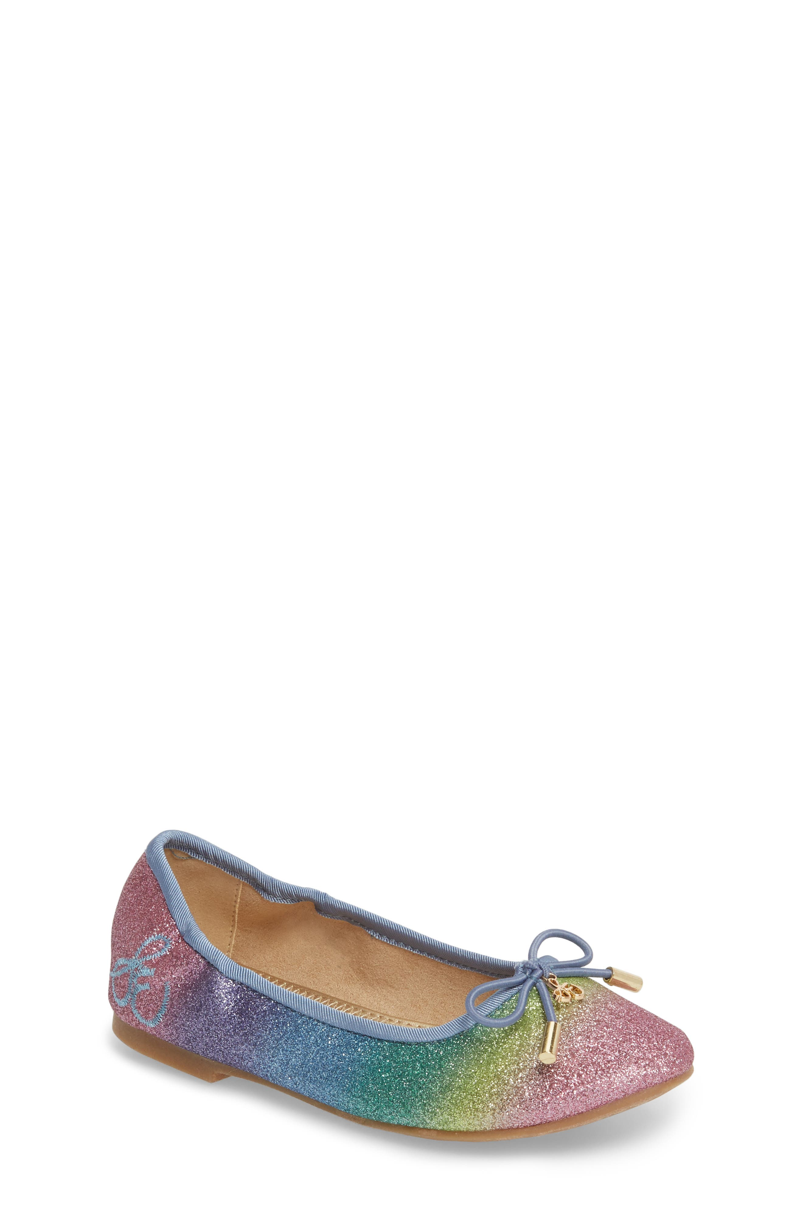 Felicia Glitter Ballet Flat,                             Main thumbnail 1, color,                             Rainbow Ombre
