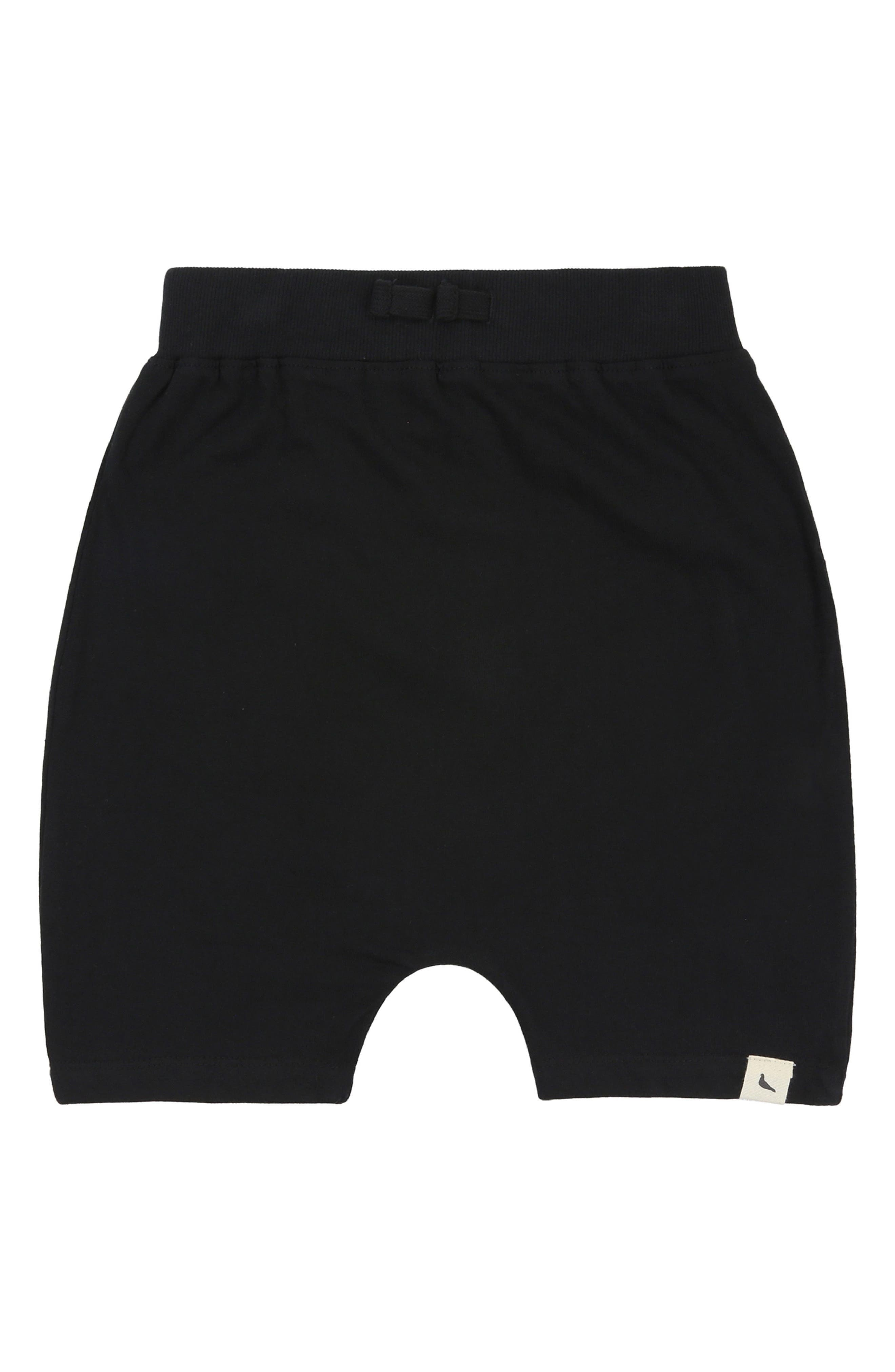Drop Organic Cotton Shorts,                             Main thumbnail 1, color,                             Black