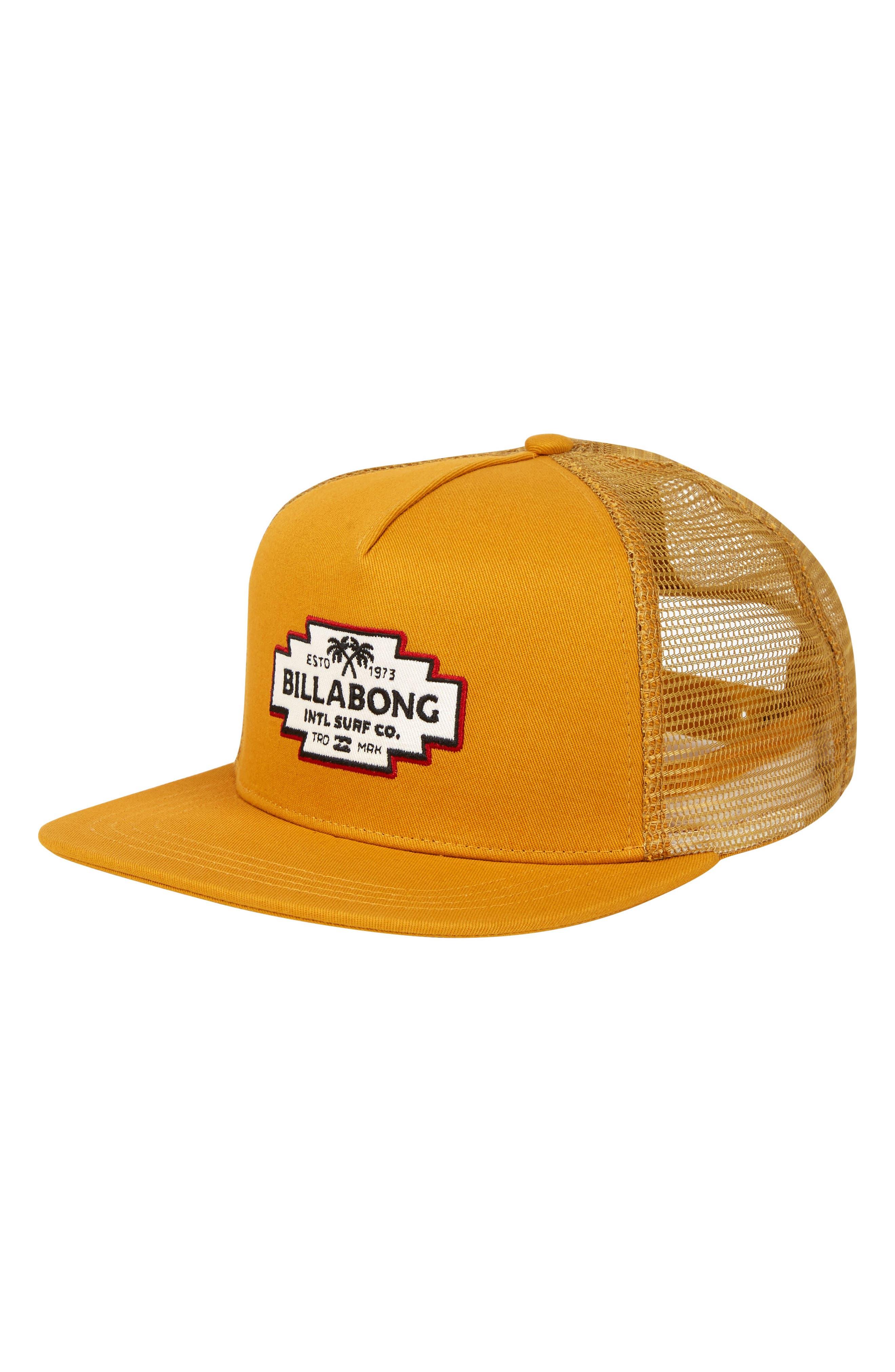 Flatwall Trucker Cap,                         Main,                         color, Gold