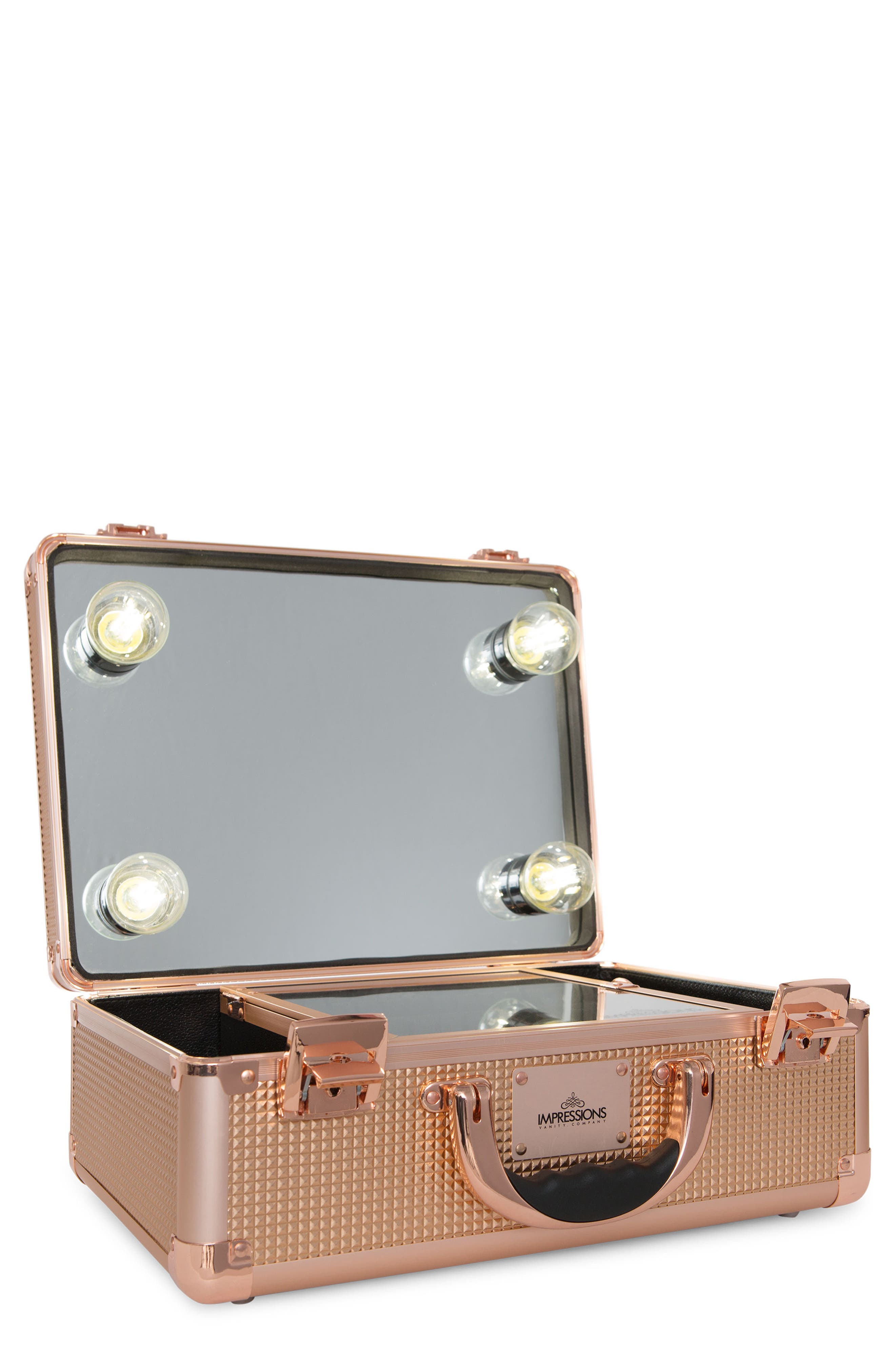 SlayCase<sup>™</sup> 2.0 Vanity Travel Case,                             Main thumbnail 1, color,                             Rose Gold