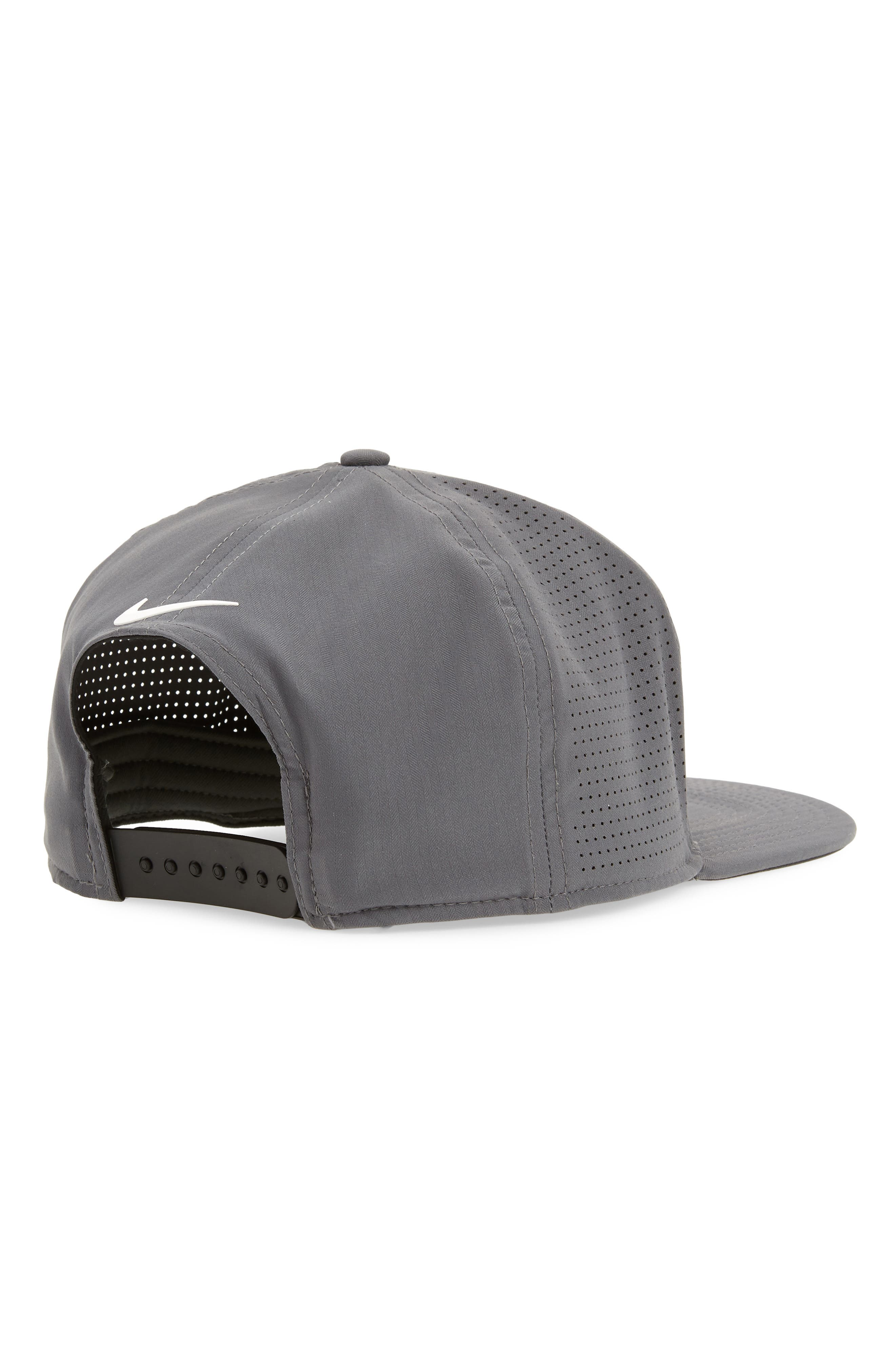 AeroBill Dry Golf Hat,                             Alternate thumbnail 2, color,                             Dark Grey/ Anthracite/ White