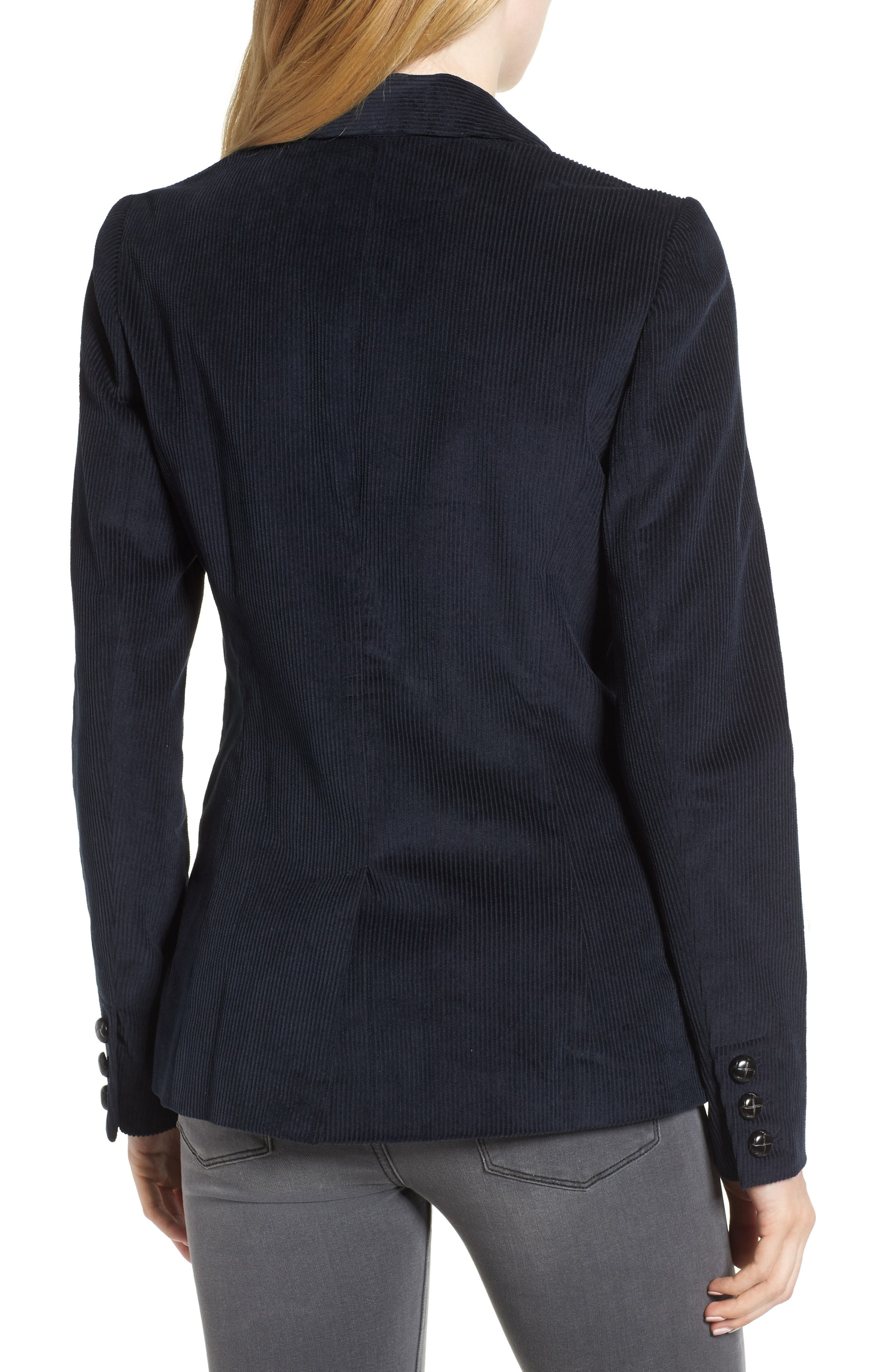 Double Breasted Corduroy Blazer,                             Alternate thumbnail 2, color,                             Navy Sapphire
