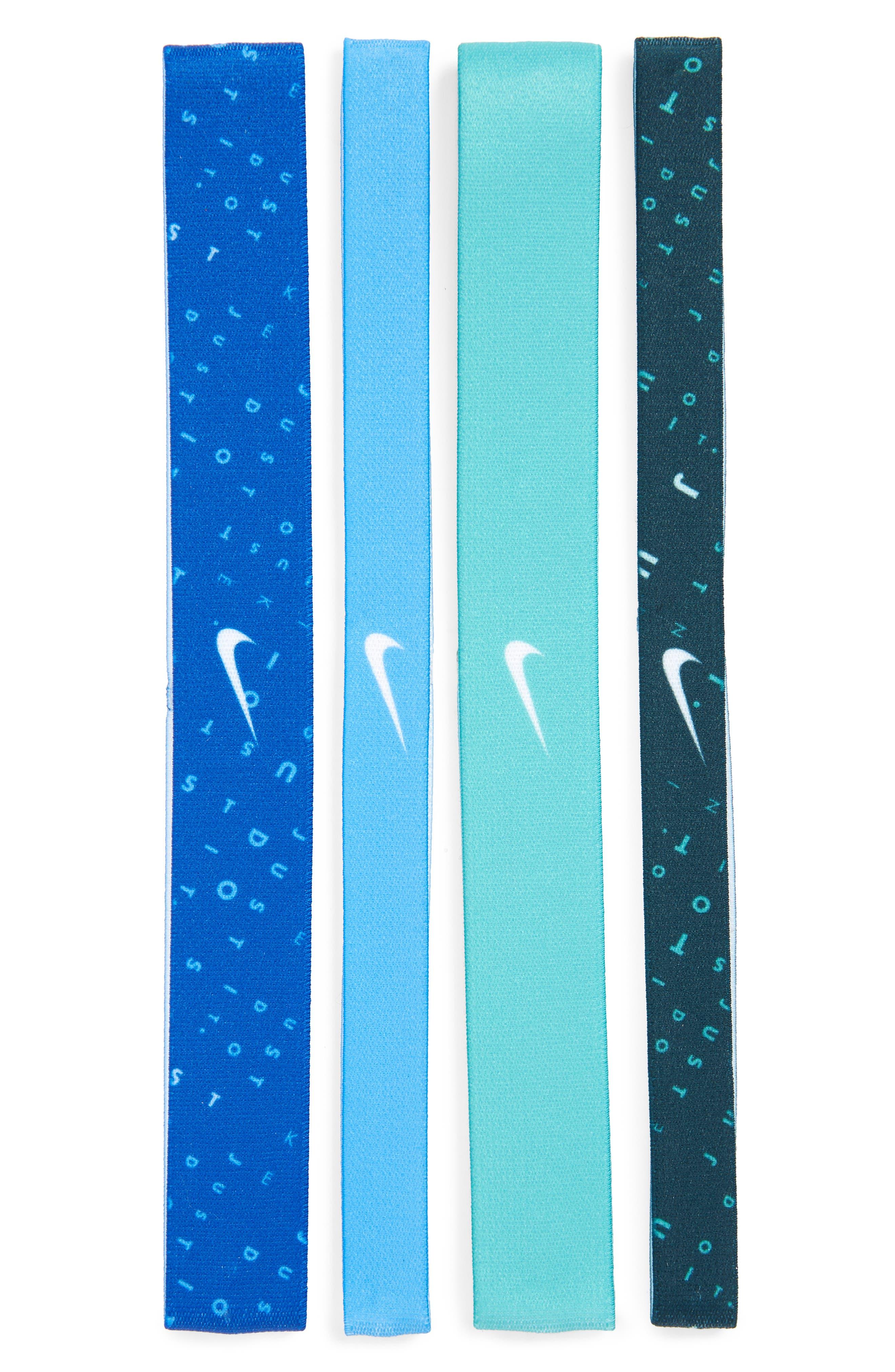 4-Pack Headbands,                         Main,                         color, Blue/ Royal