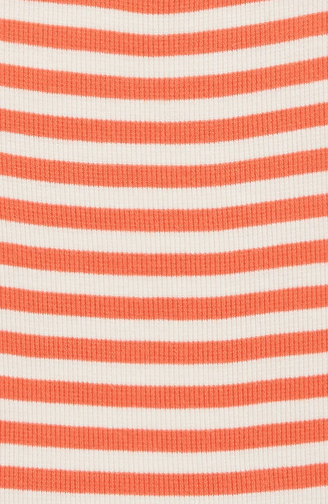 Crisscross Stripe Tank,                             Alternate thumbnail 2, color,                             Coral Hot- Ivory Stripe
